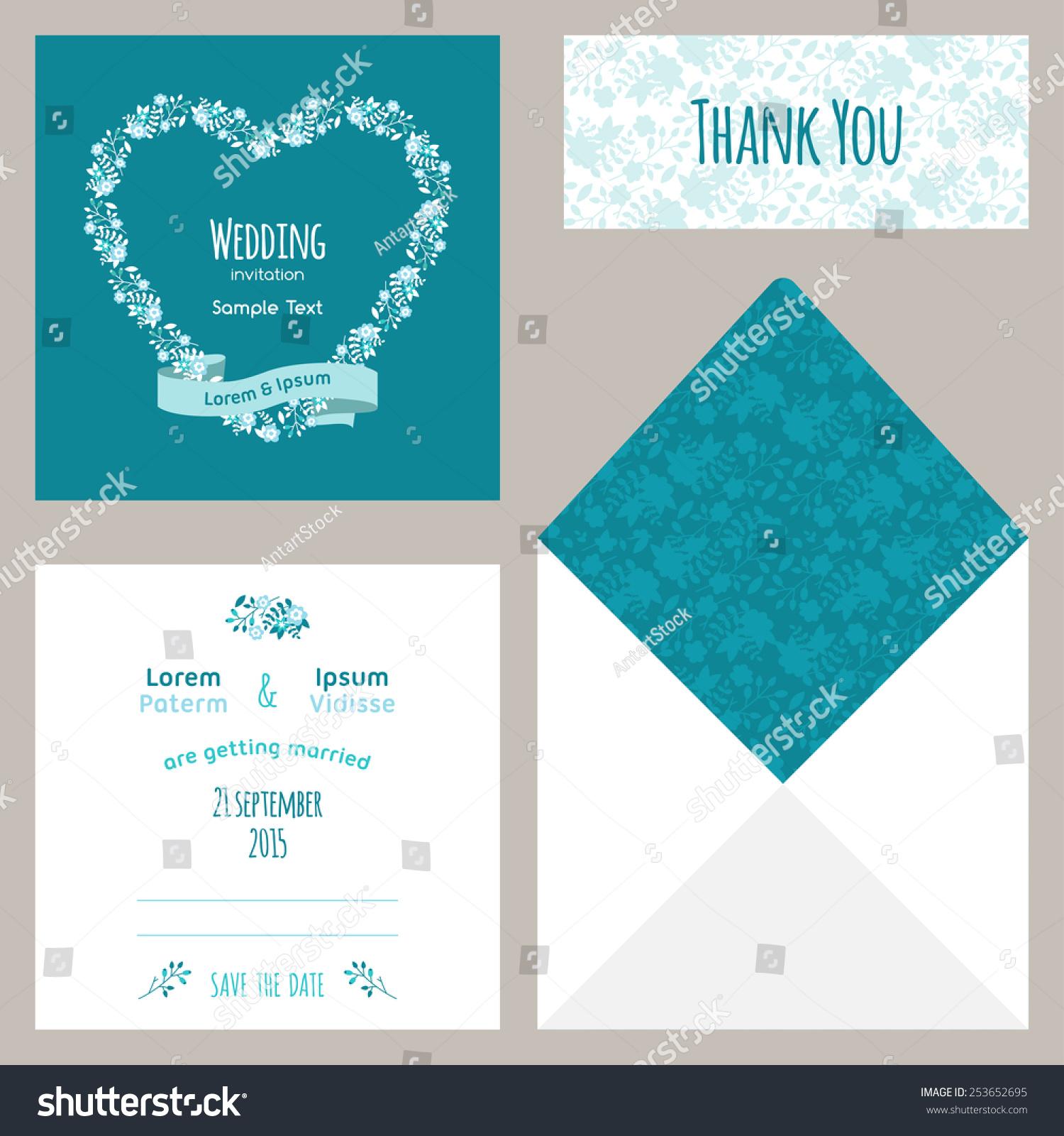 vector design template wedding invitation envelope stock vector