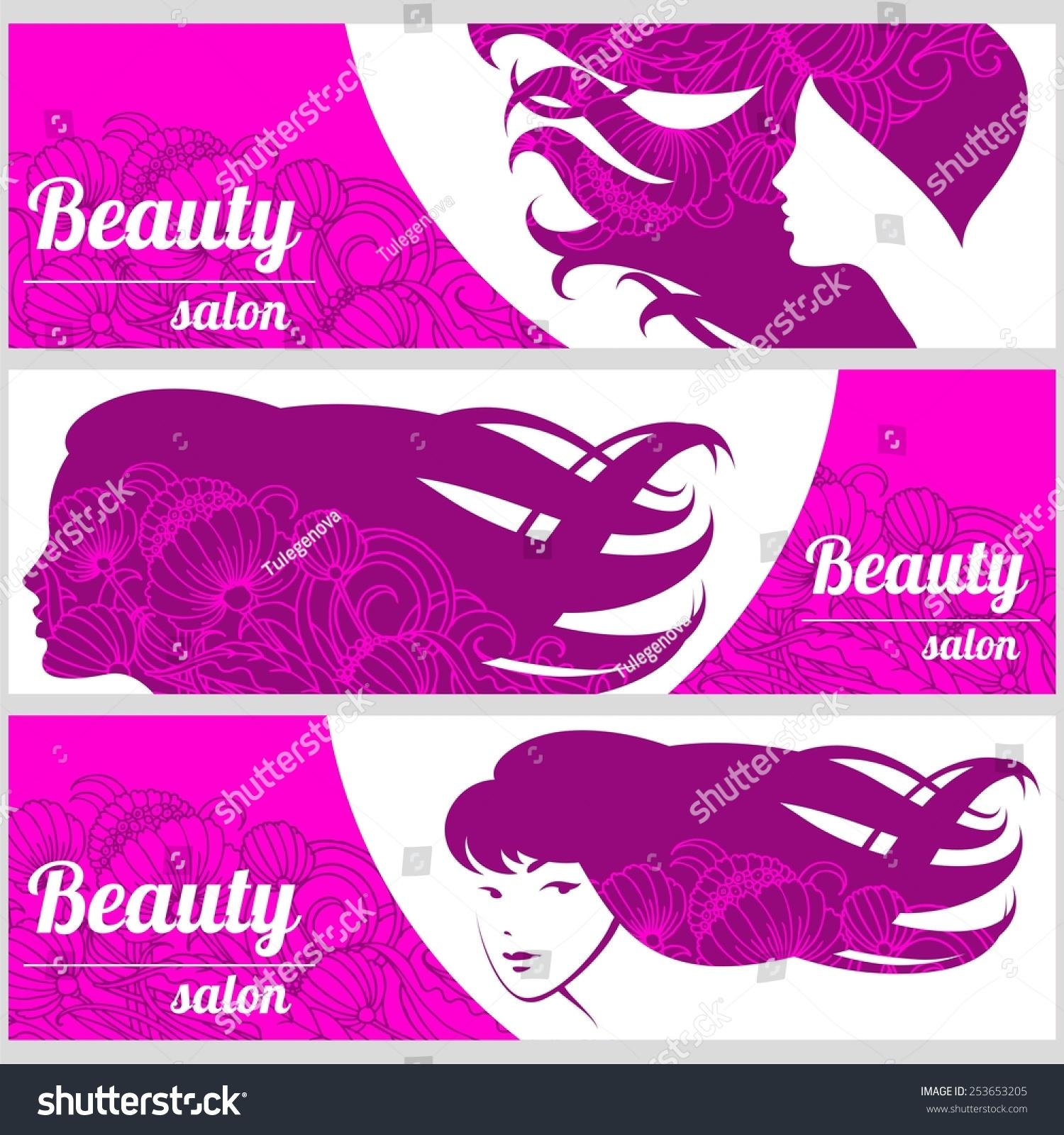 Design Business Card Hair Beauty Salon Stock Vector 253653205 ...
