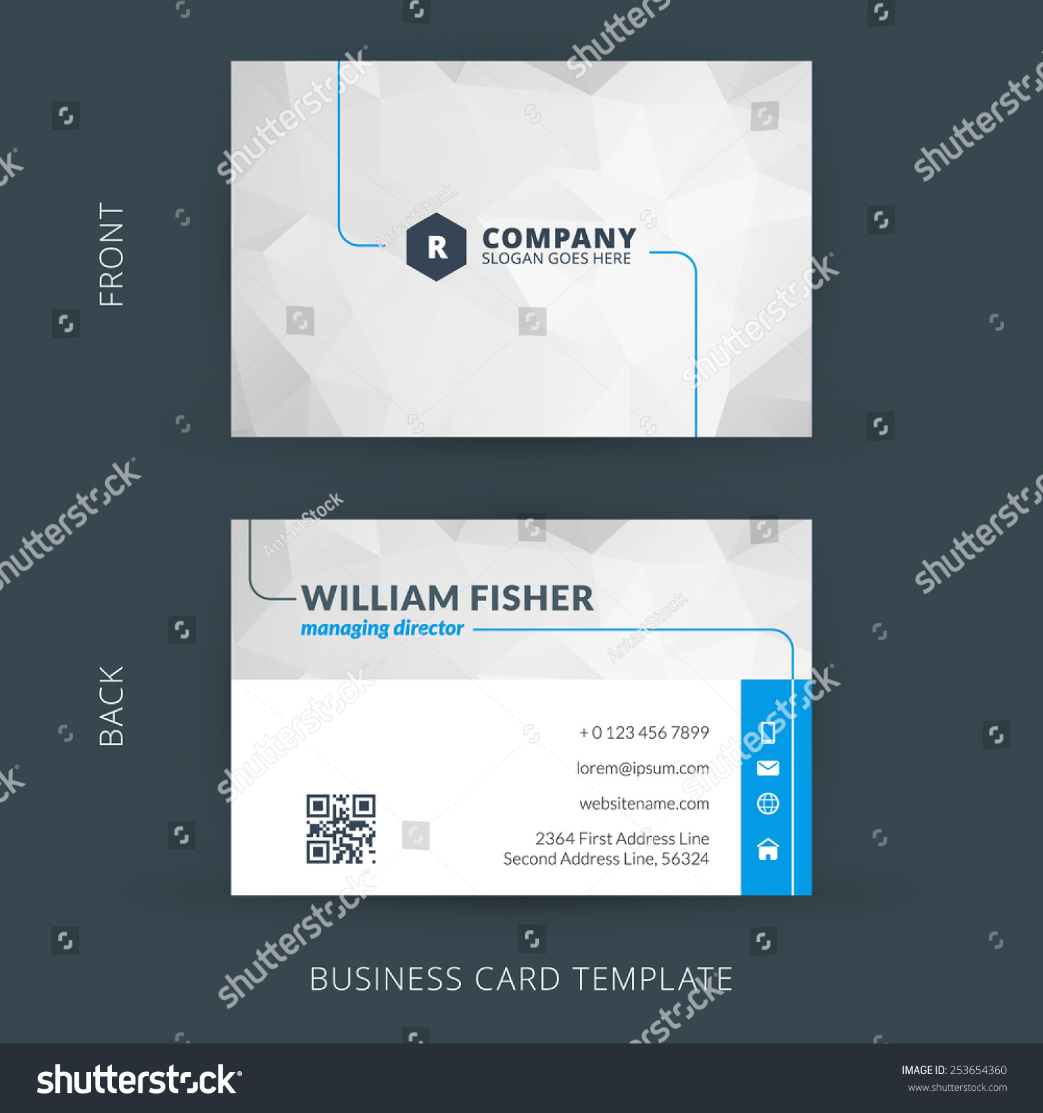vector modern creative clean business card stock vector