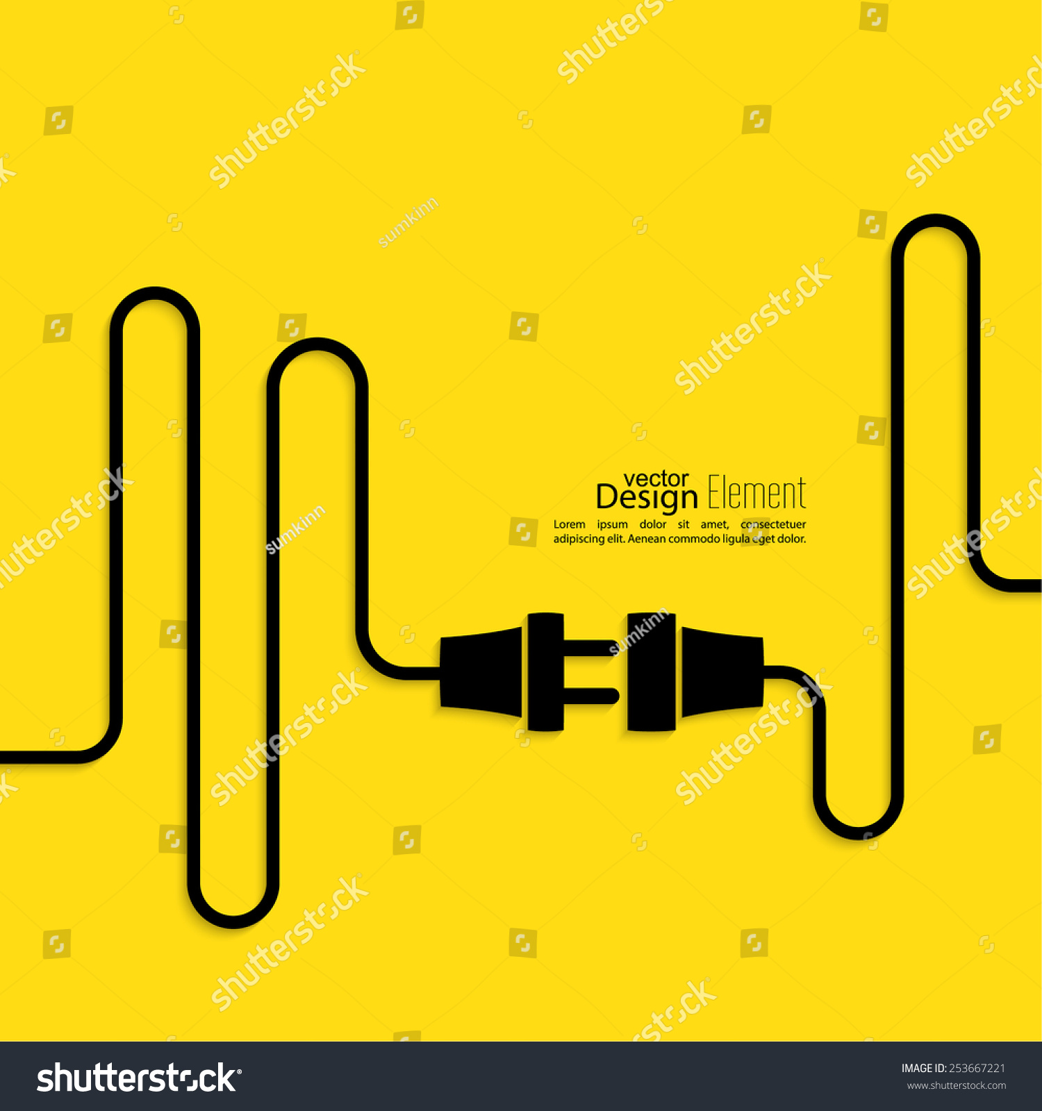 Vector Electricity Connection