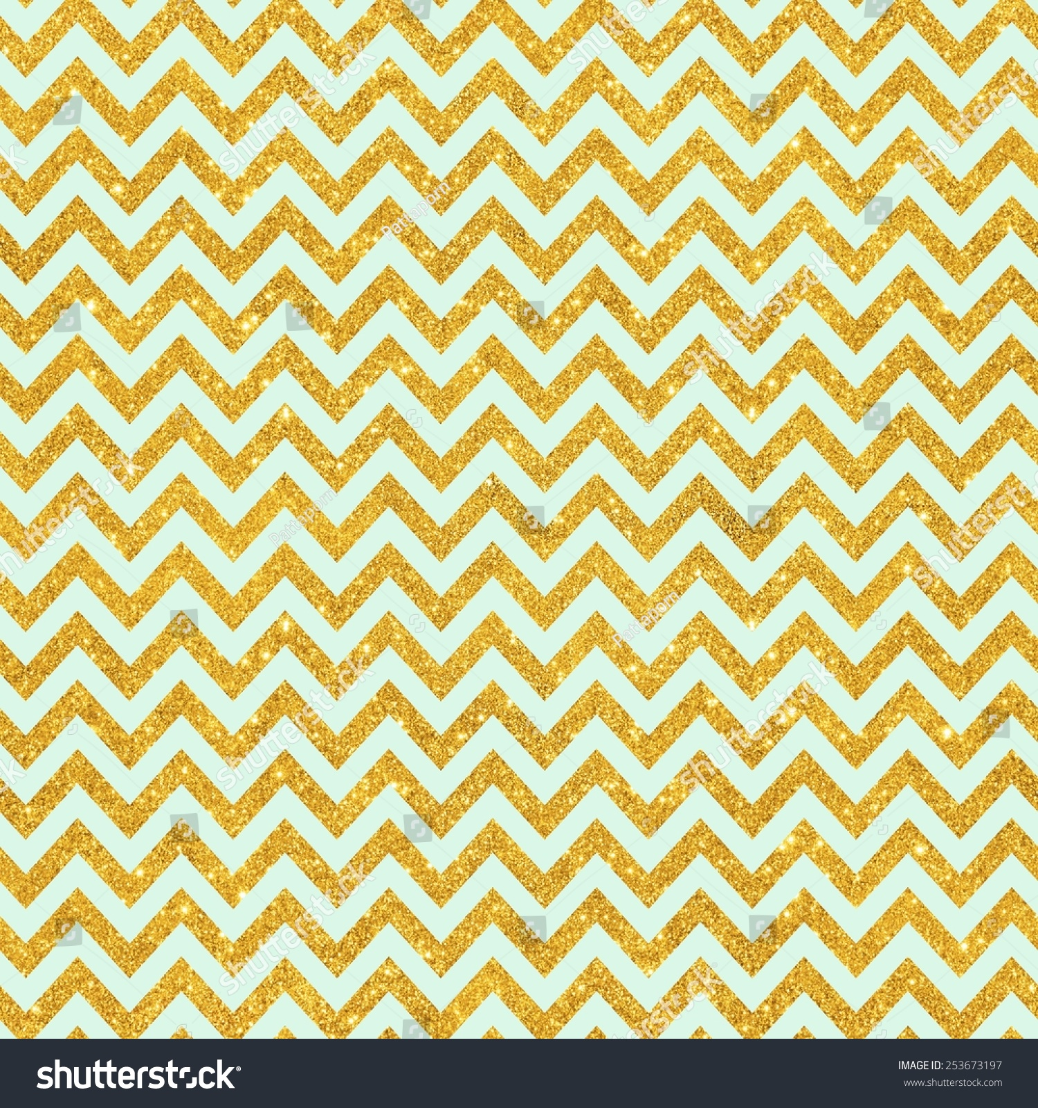 How to scrapbook with glitter - Digital Paper For Scrapbook Mint Gold Glitter Zig Zag Chevron Pattern Seamless Texture Background