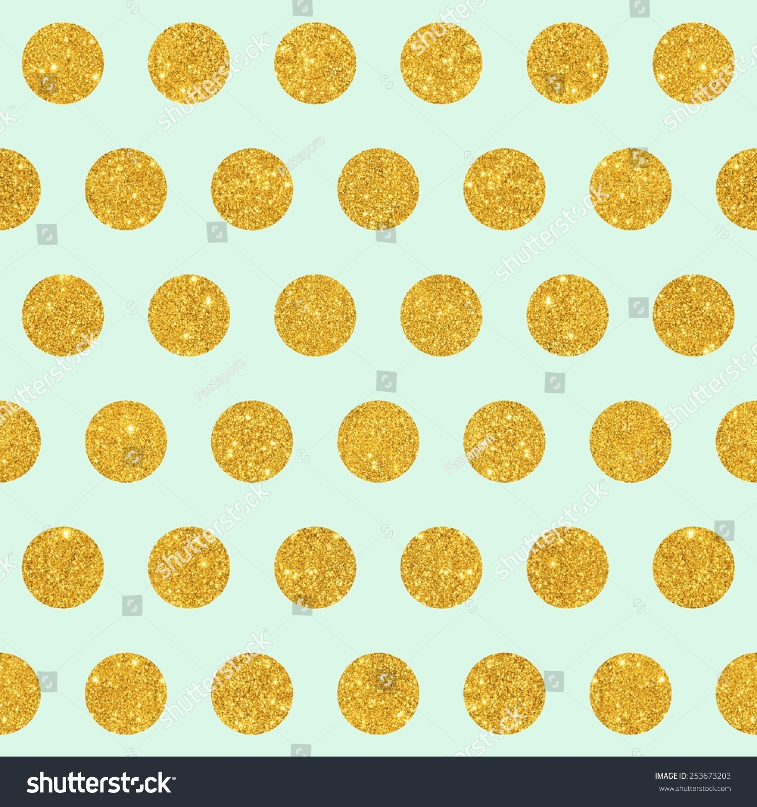 How to scrapbook with glitter - Digital Paper For Scrapbook Mint Gold Glitter Large Polka Dots Pattern Seamless Texture Background