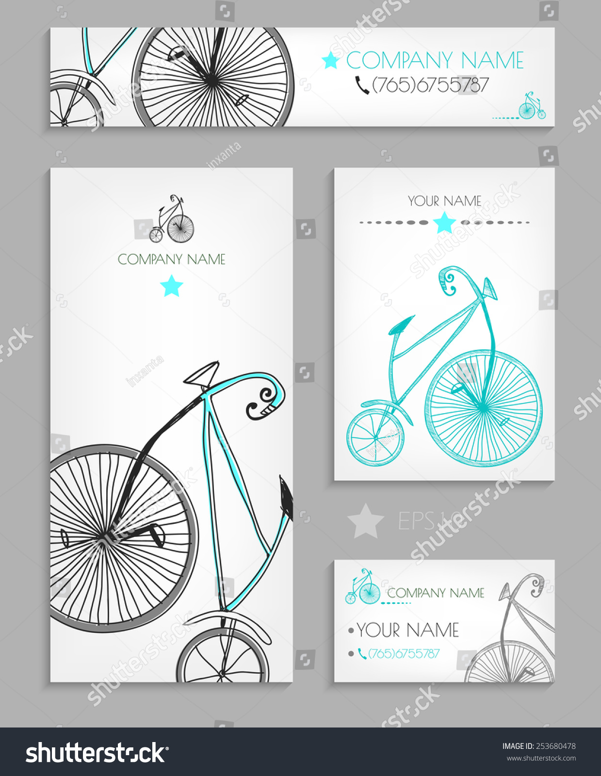 Vintage Bicycle Business Cards Images - Card Design And Card Template