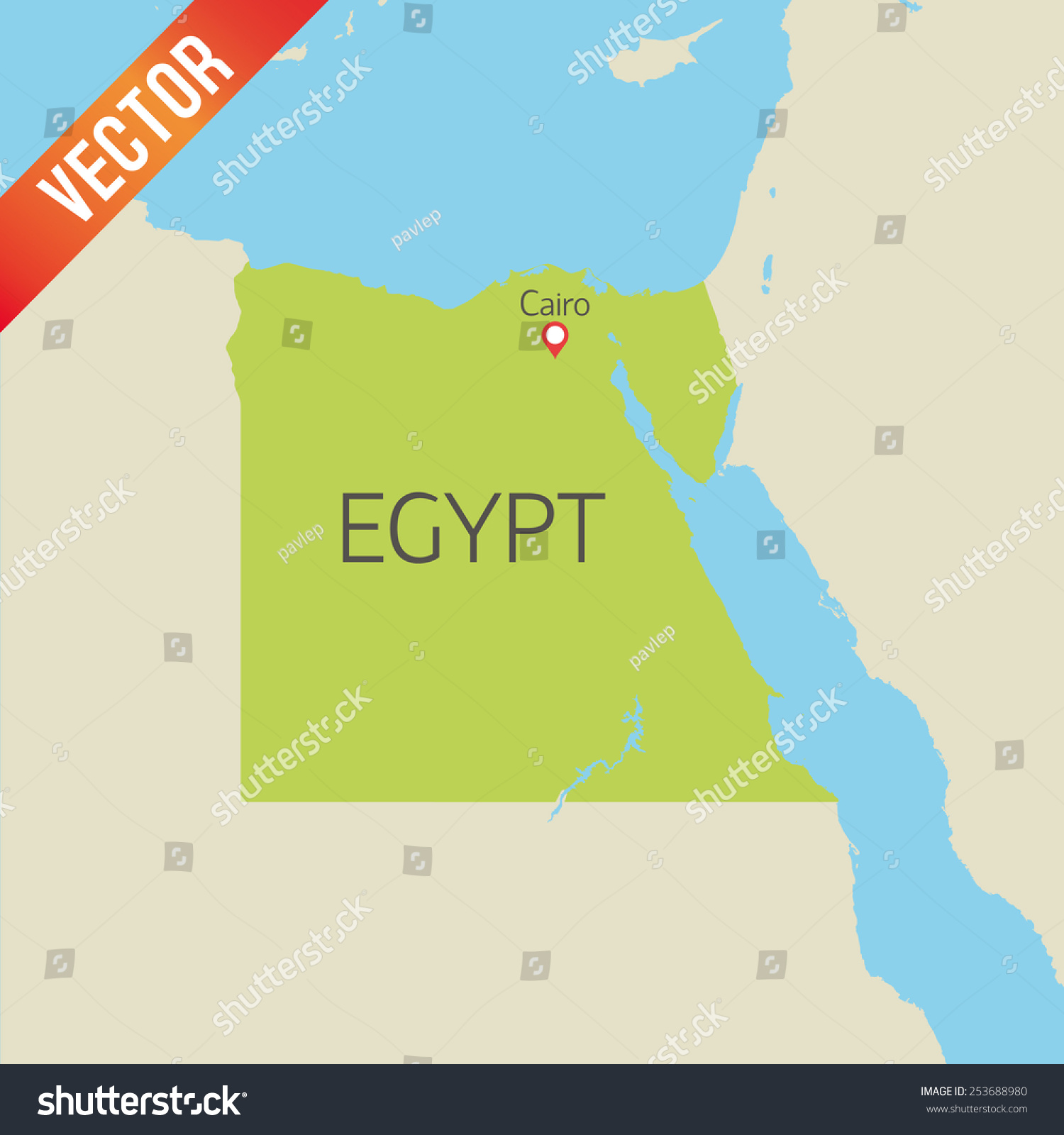 Detailed Vector Map Of Egypt Bellagio Map - Map of egypt detailed