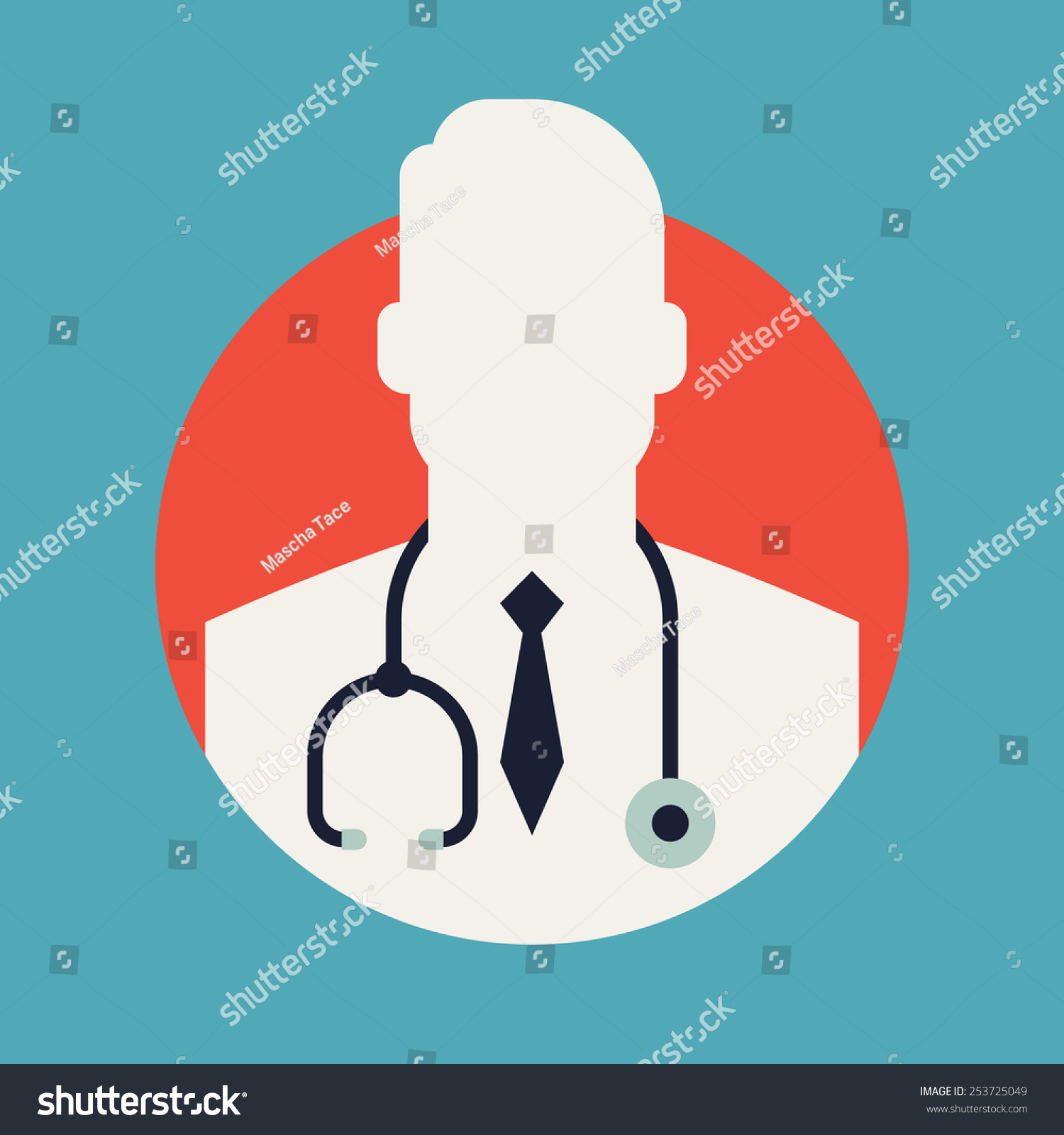 Vector Modern Flat Design Circle Icon On Medic Doctor ...