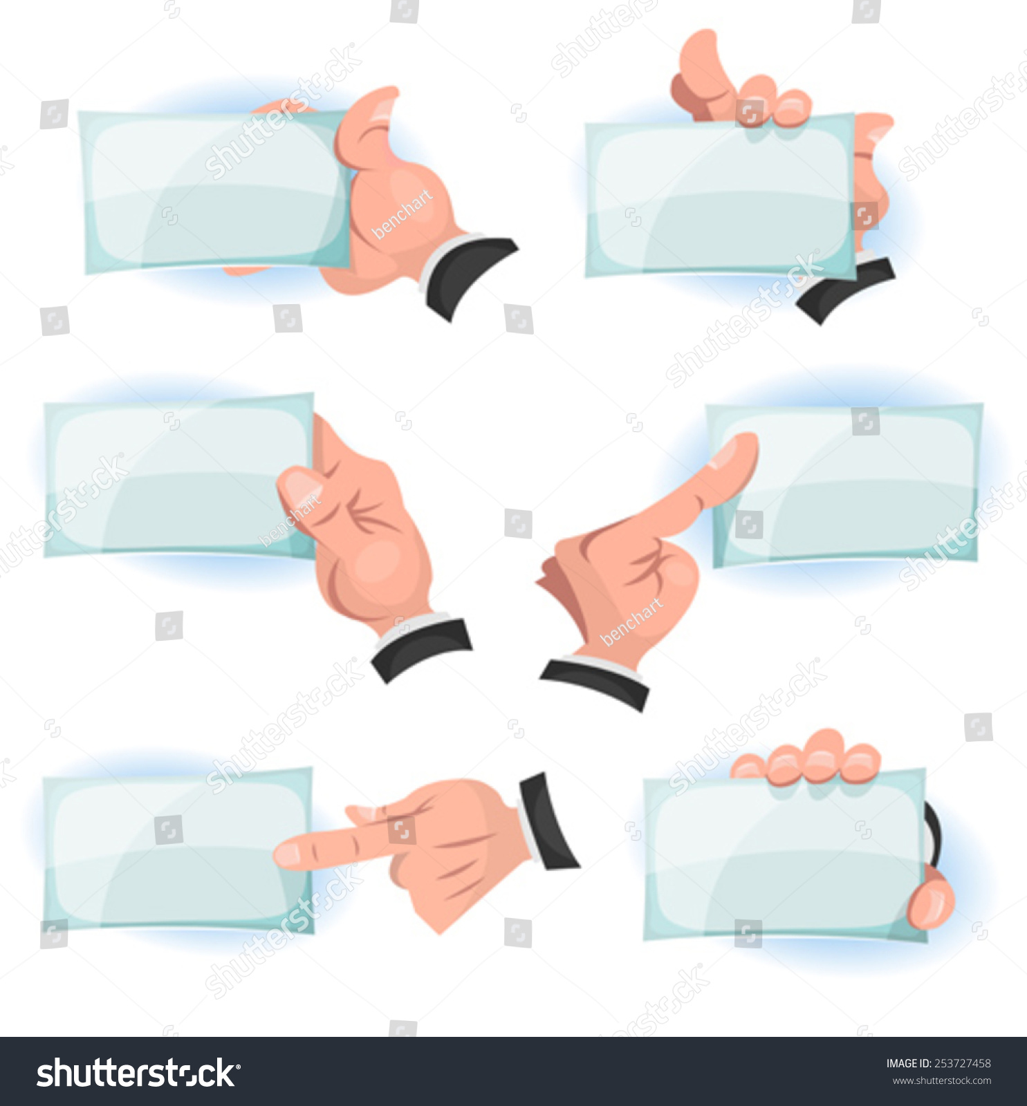 Comic hands holding business cards illustration stock vector comic hands holding business cards illustration of a set of funny cartoon hands and fingers magicingreecefo Choice Image