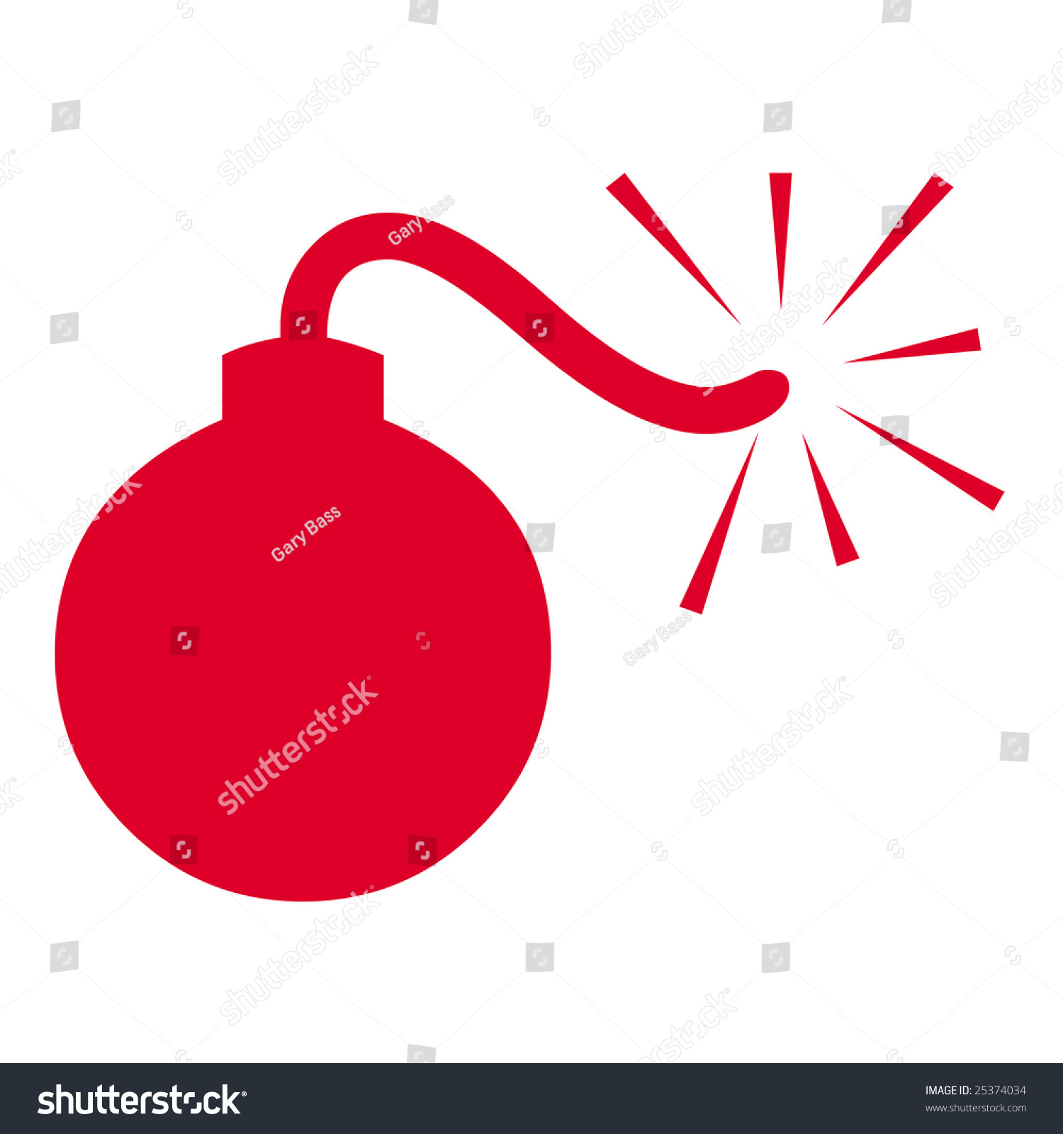 Bomb Symbol Stock Illustration 25374034 Shutterstock