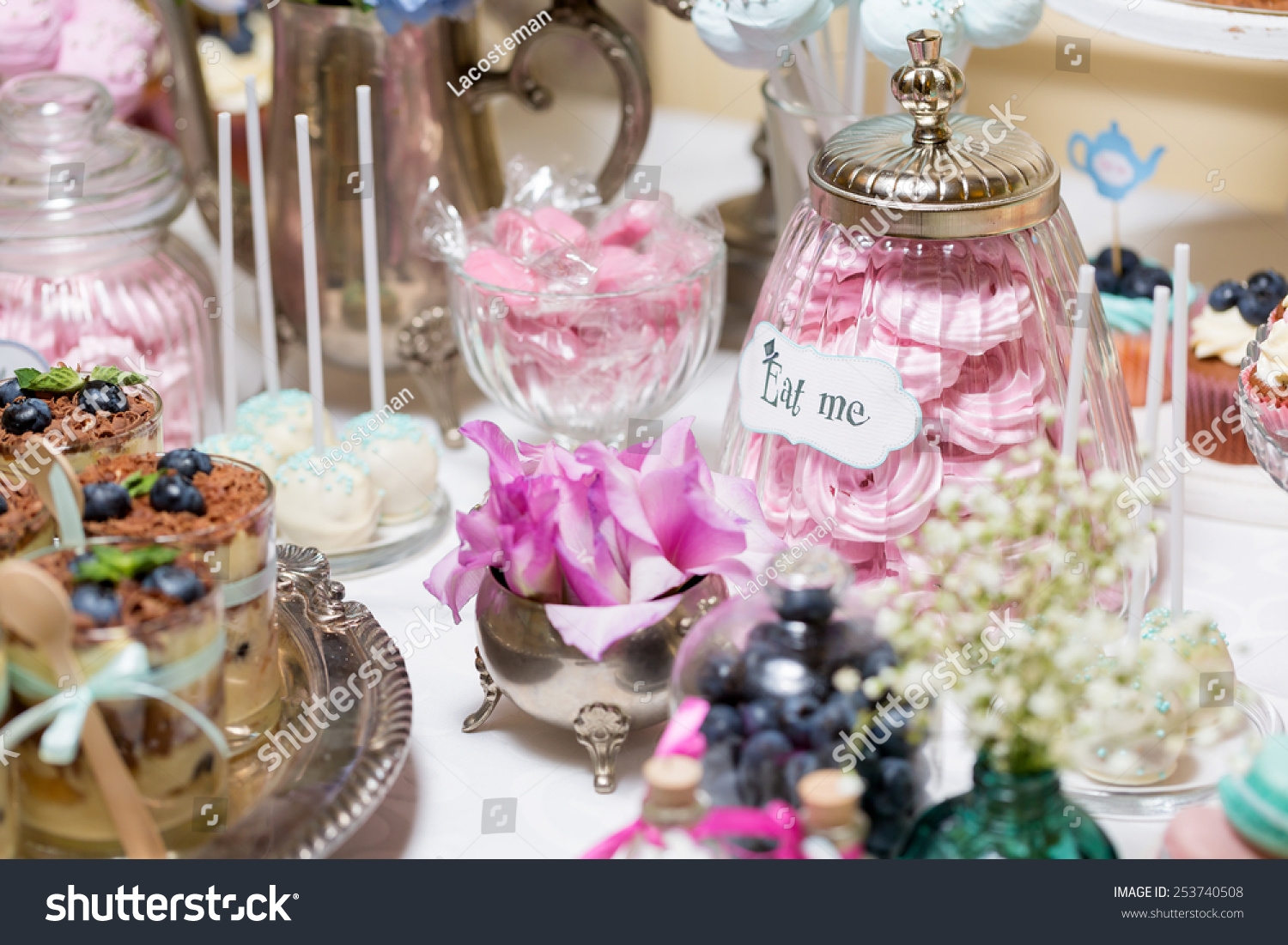 Royalty-free Candy bar at a wedding in the style of… #253740508 ...