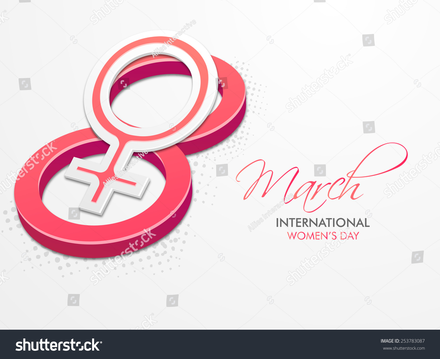 Creative greeting card design international womens stock vector creative greeting card design for international womens day celebrations with pink horizontal text 8 march and m4hsunfo
