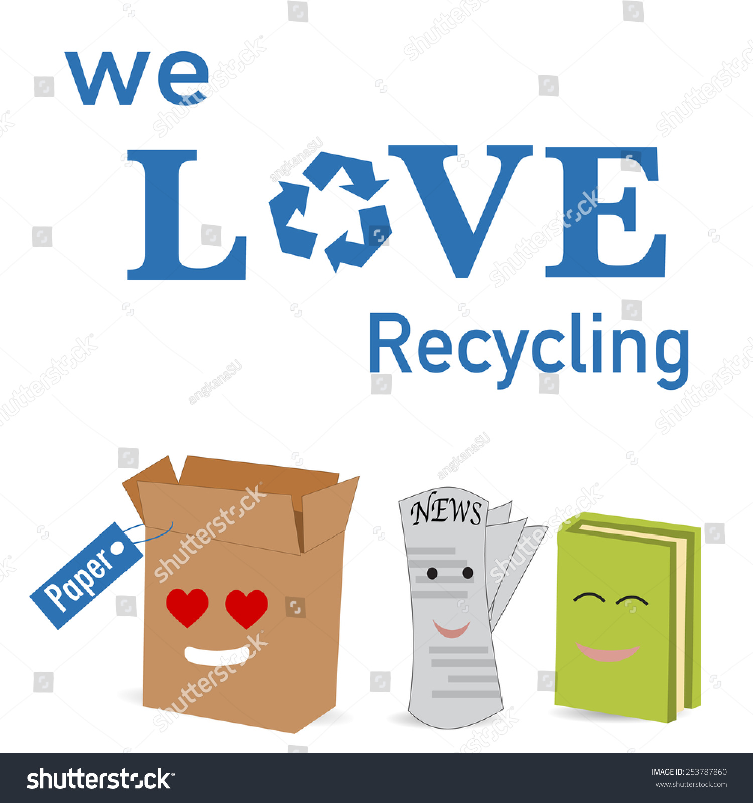 Paper Recycle Poster Stock Vector 253787860 - Shutterstock