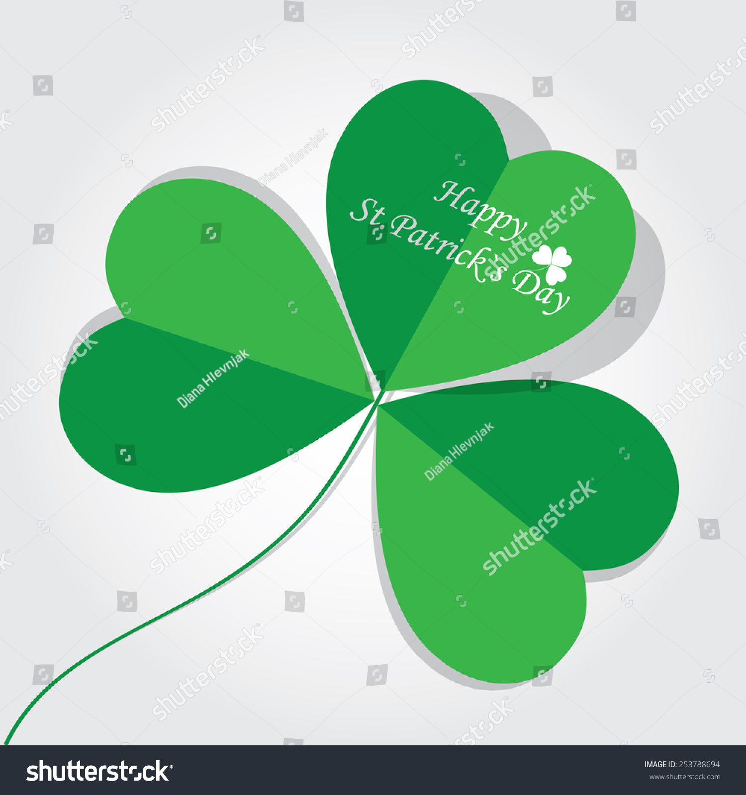 St patricks day irish symbol shamrock stock vector 253788694 st patricks day irish symbol of shamrock three leaved clover plant greeting biocorpaavc Gallery