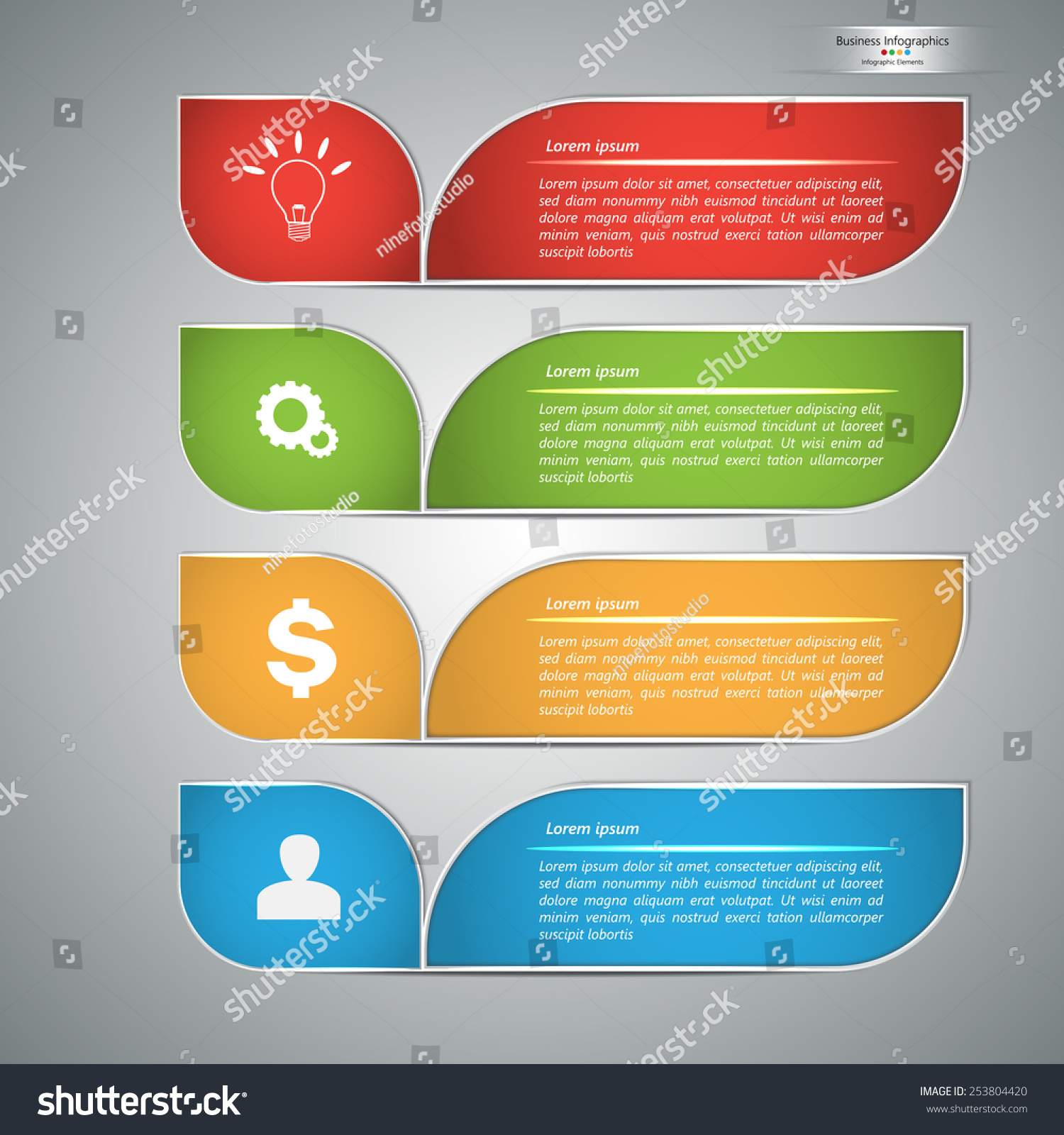 Colorful modern text box template colorful stock vector - Text banner design ...