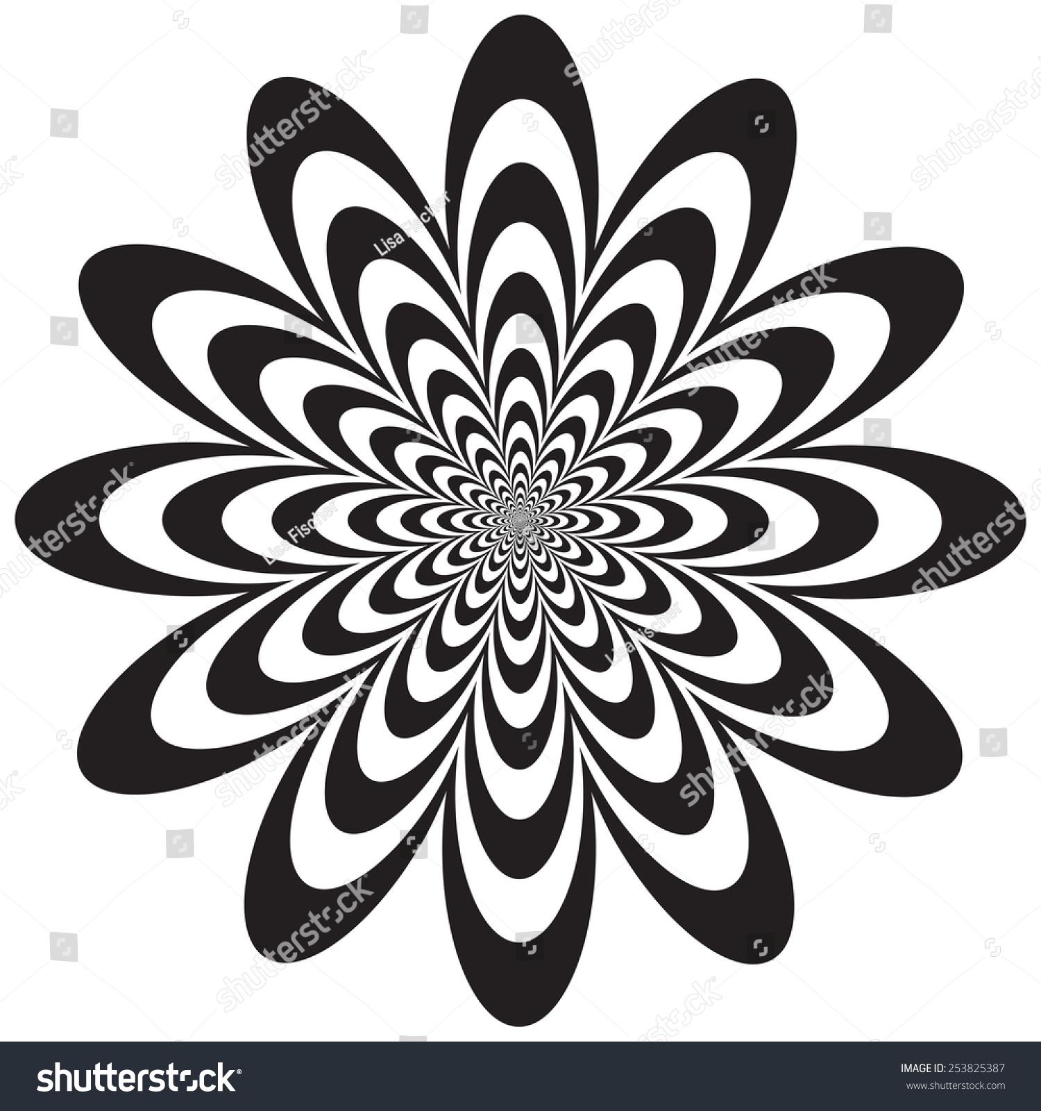 royalty free op art flower optical illusion design 253825387 stock
