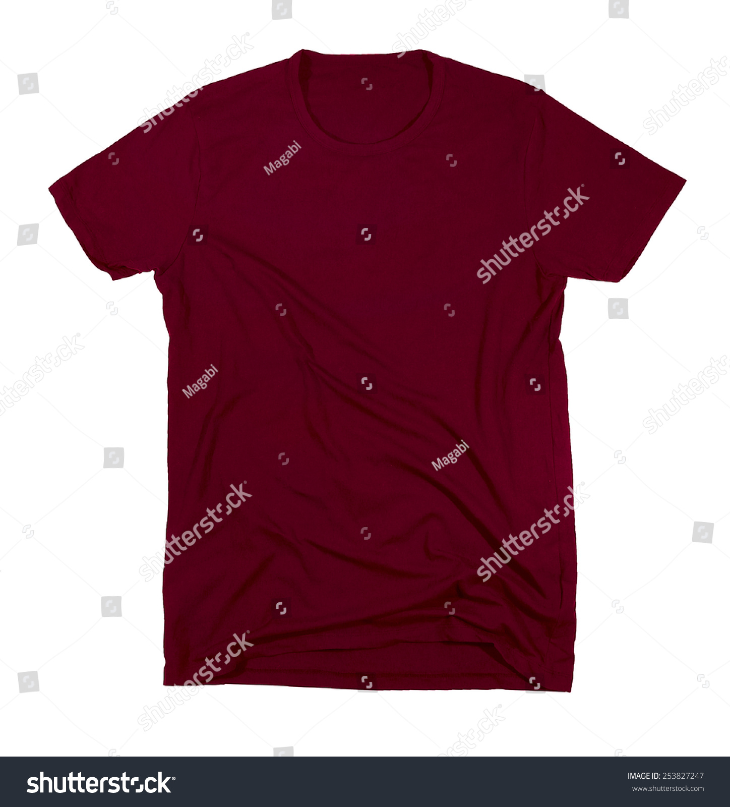 red t shirt template ready for your own graphics stock photo 253827247 shutterstock. Black Bedroom Furniture Sets. Home Design Ideas