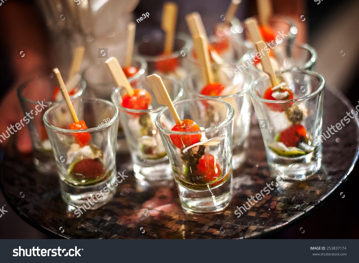 Canape selection on slate platter stock photo 253837174 for Canape selection