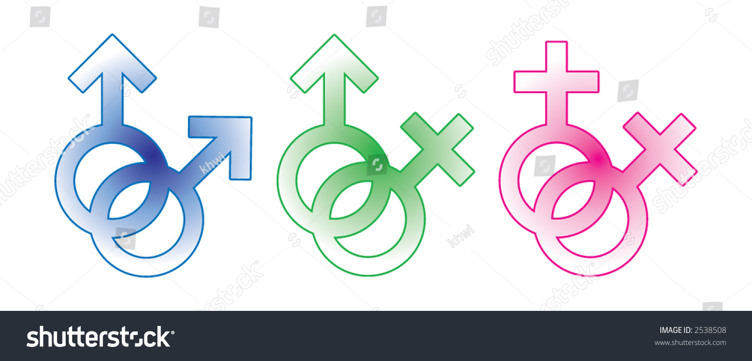 Vector sign symbol male female straight stock vector 2538508 vector sign symbol of male and female straight gay and lesbian buycottarizona