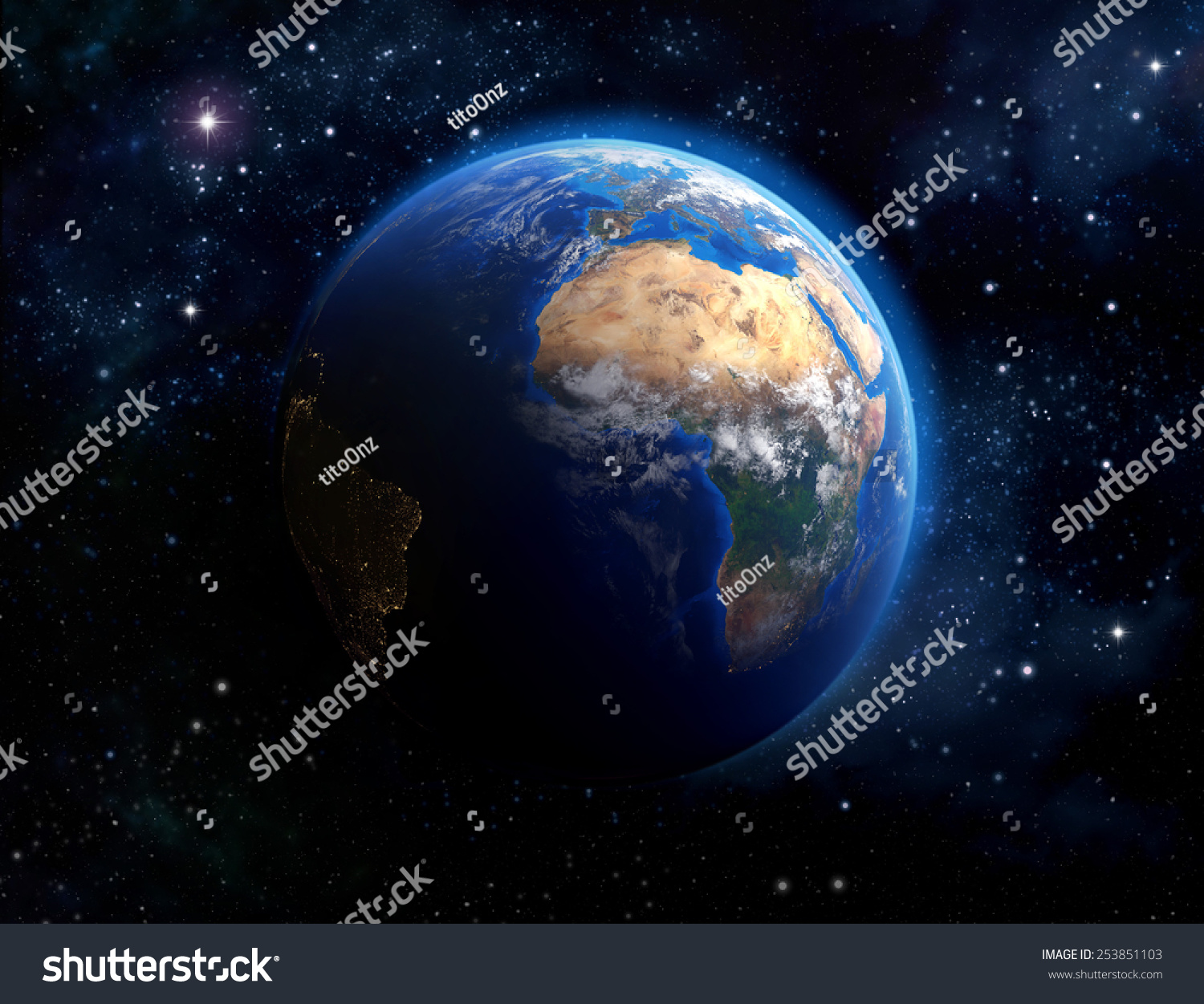 Face of the earth imaginary view of planet earth in outer for Outer space elements