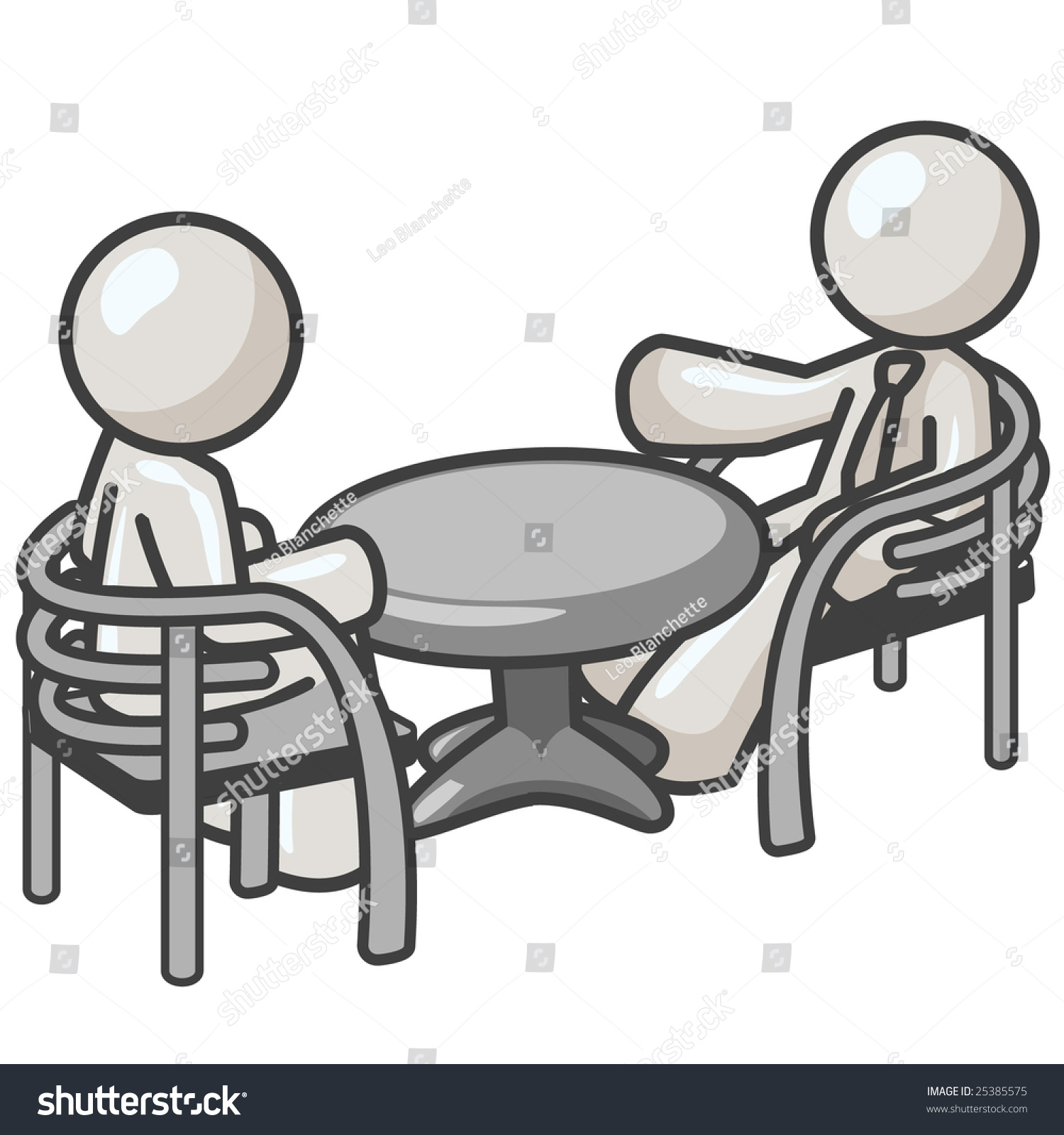 Consultant Clip Art : Men at a table consulting over matters stock photo