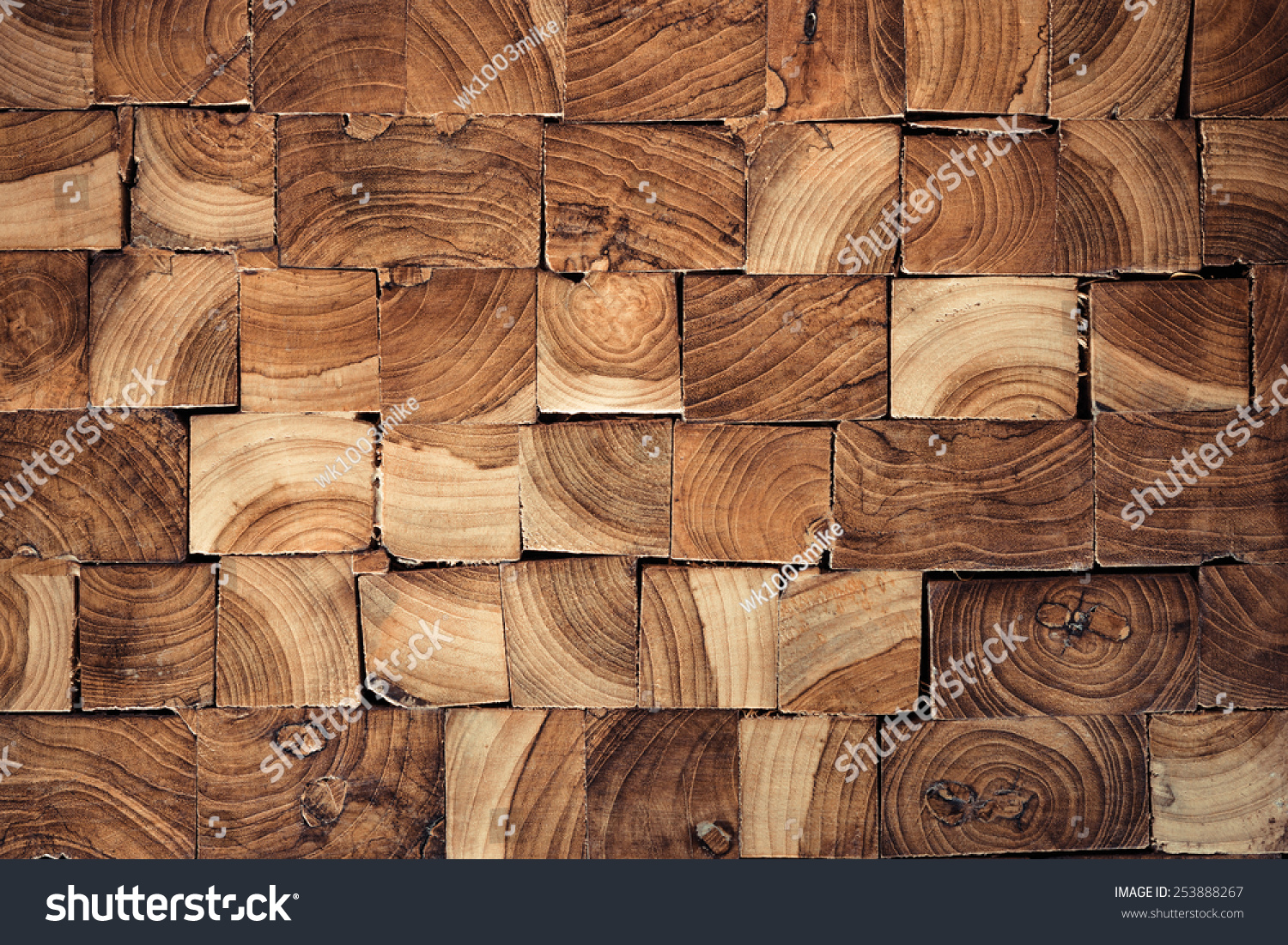 Teak Wood Pieces ~ Pieces of teak wood stump background stock photo