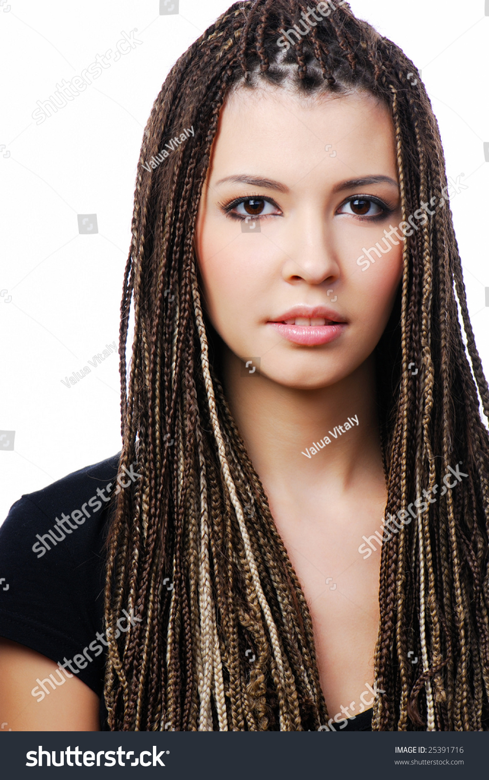 Remarkable Portrait Young Pretty Woman Dreadlocks On Stock Photo 25391716 Hairstyle Inspiration Daily Dogsangcom