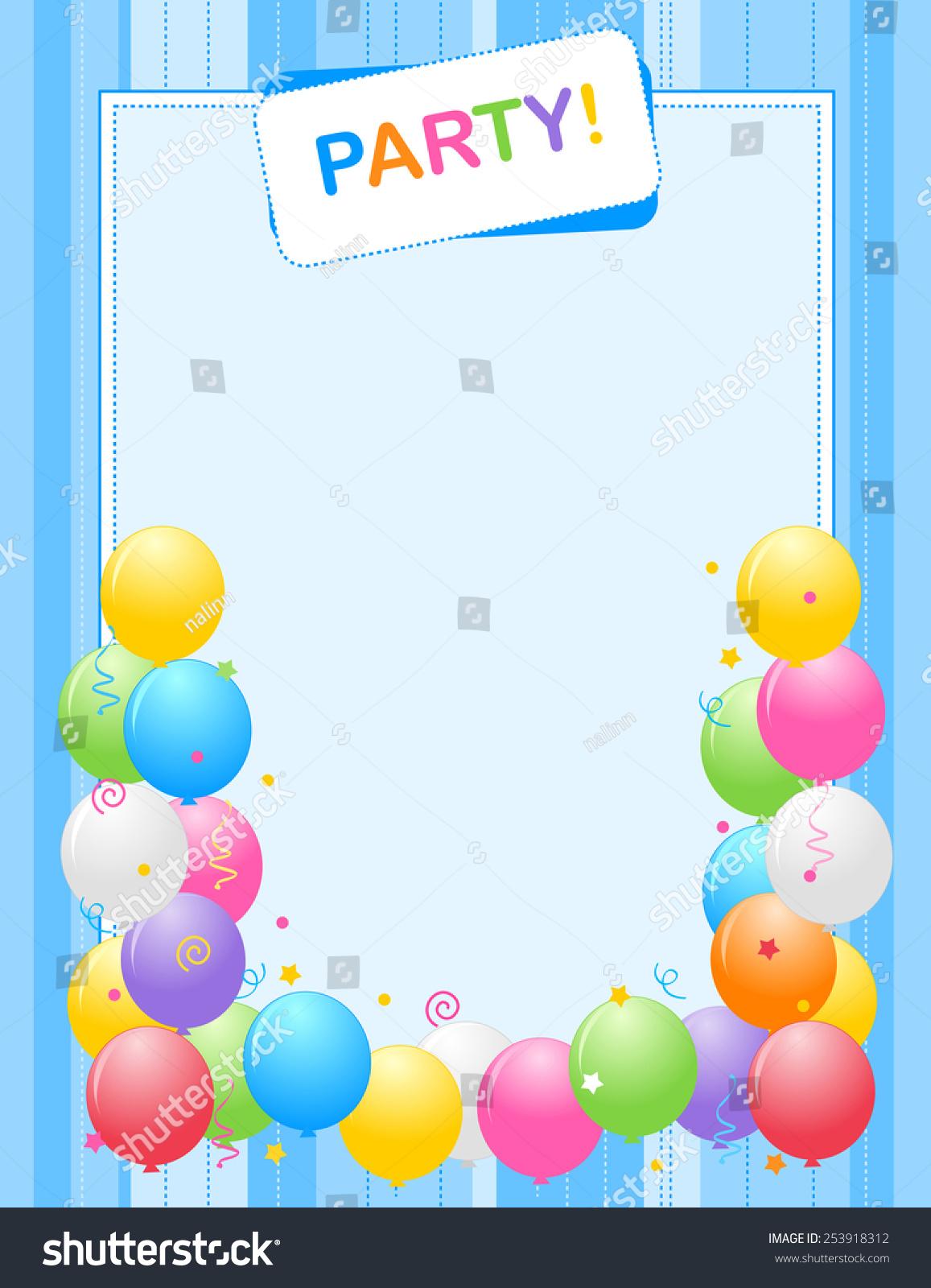 Colorful Balloons Border Frame Illustration Birthday Stock Vector ...