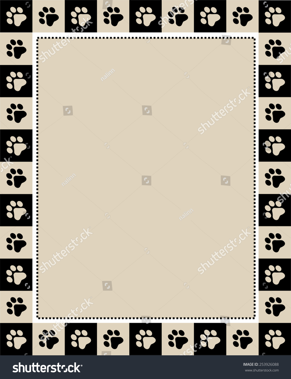 Cute Pet Lovers Dog Cat Lover Stock Vector Royalty Free 253926088