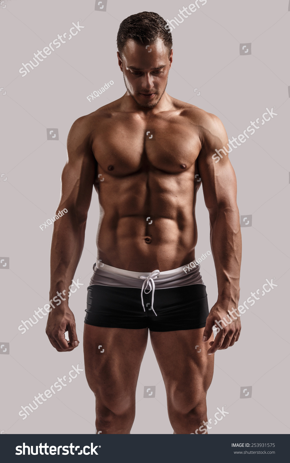 Young Guy Great Body Anatomy Black Stock Photo (Royalty Free ...
