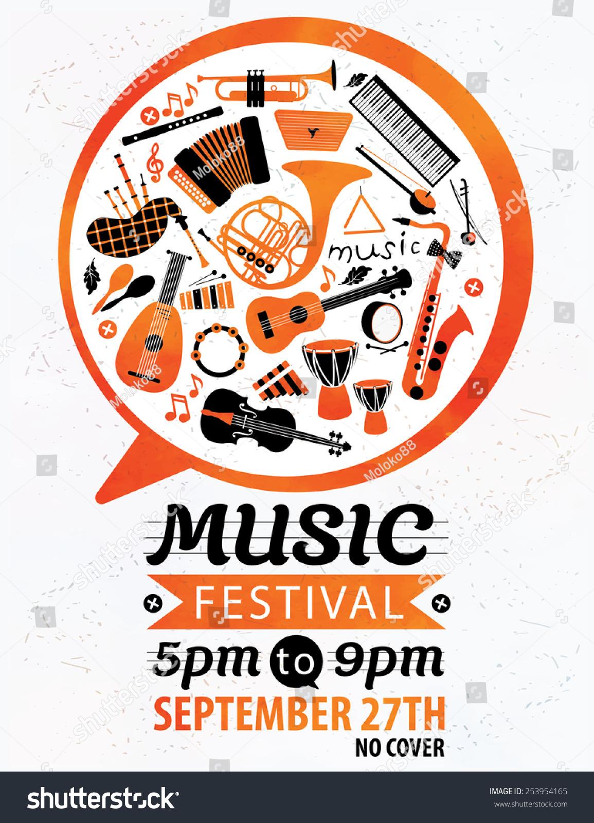 Music Festival Vector Music Flyer Vector 253954165 – Music Flyer
