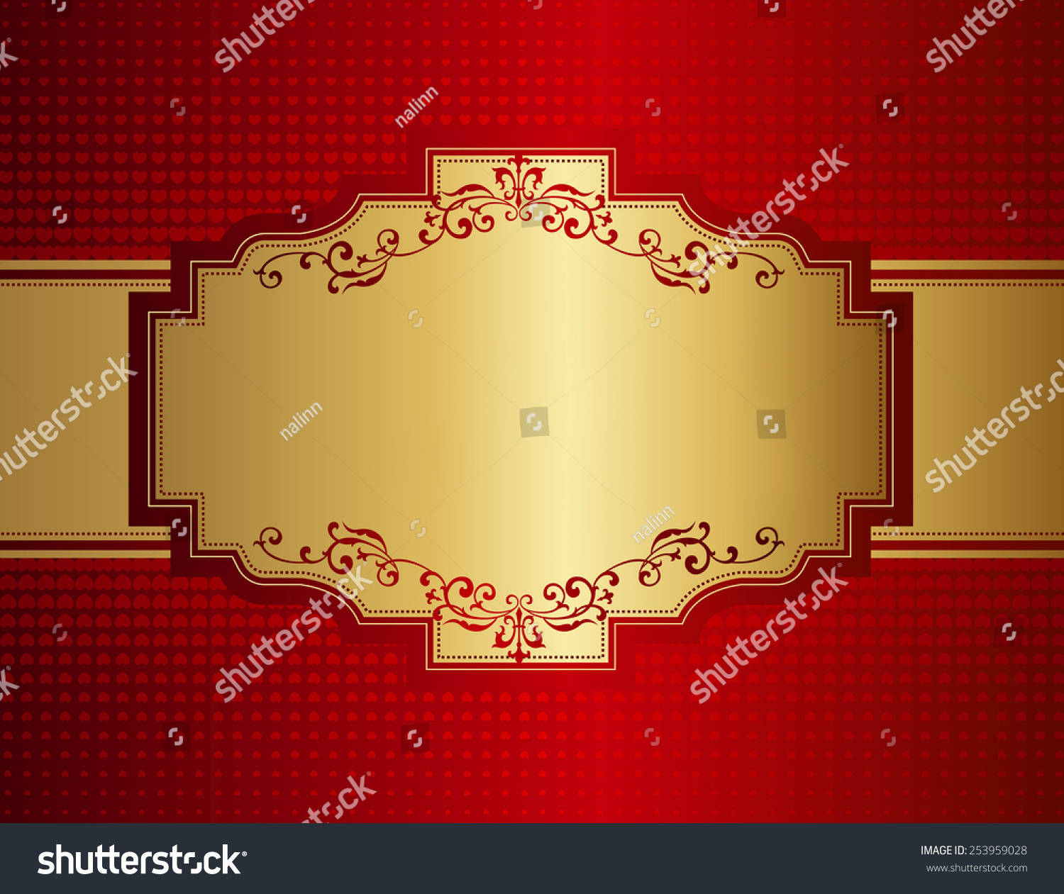Elegant Wedding Invitation Anniversary Background Frame Stock Vector ...