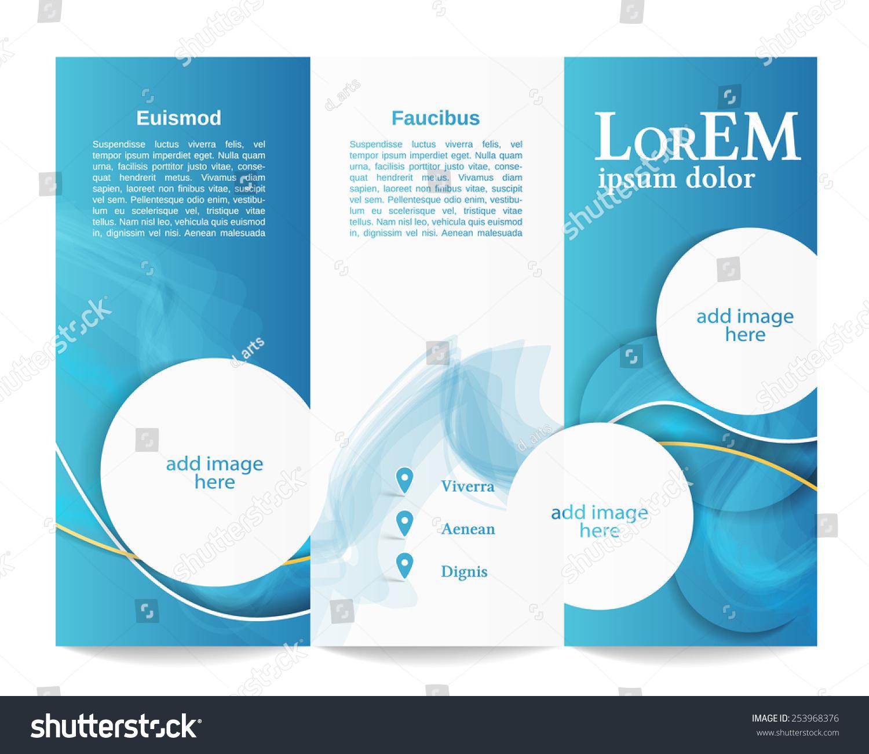 z fold brochure template