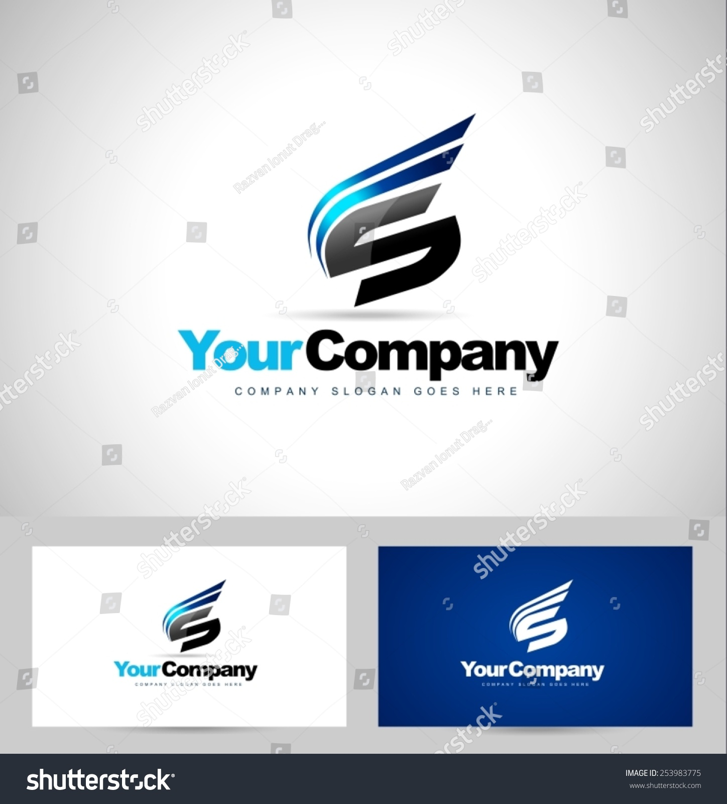 Creative Letter S Logo Design Creative Stock Vector