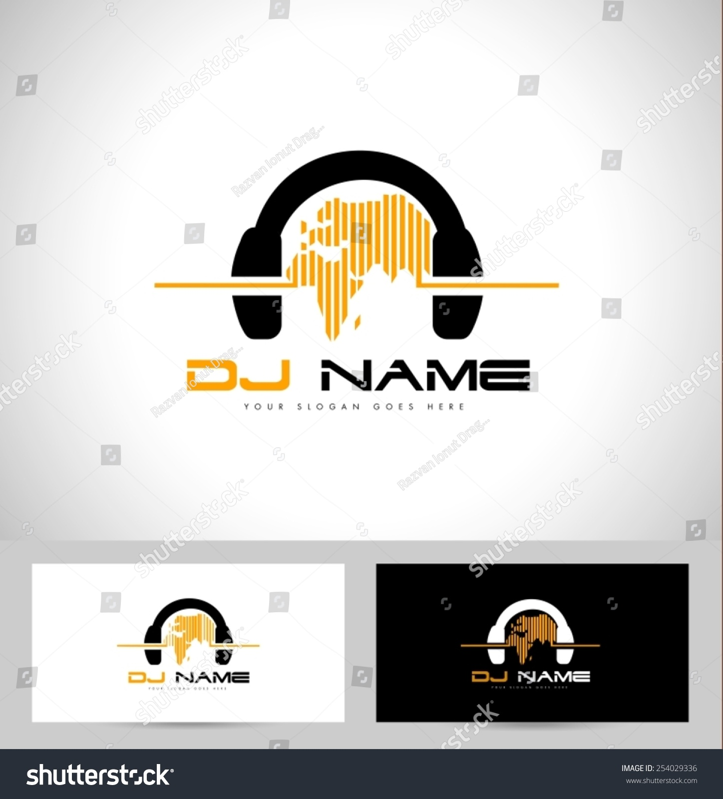 Dj Logo Design Creative Vector Logo Stock Vector 254029336