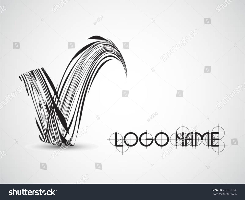 Line Logo Design : Vector logo design template abstract colorful stock
