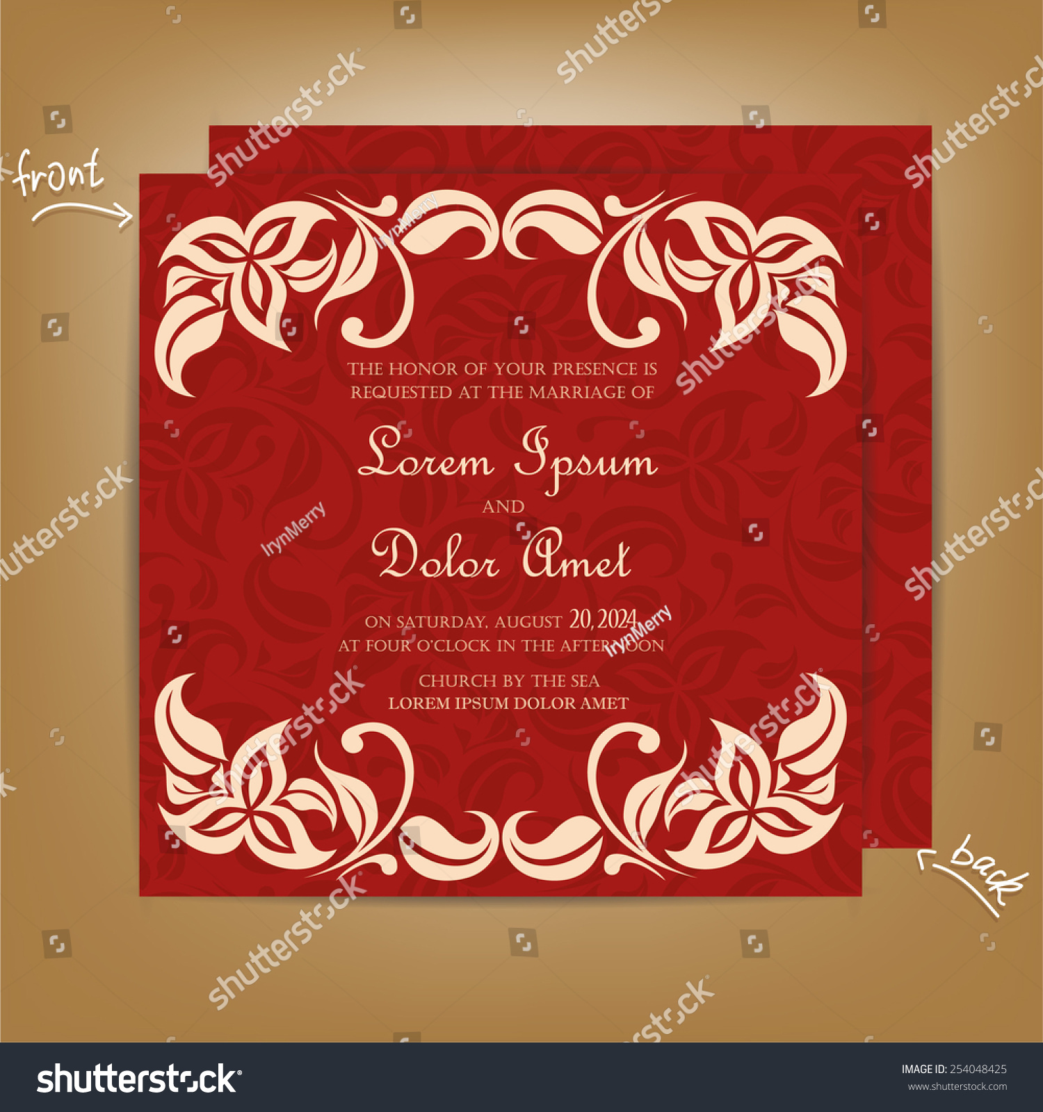 Vintage Wedding Invitation Card Vector ~ All the Best Ideas About ...