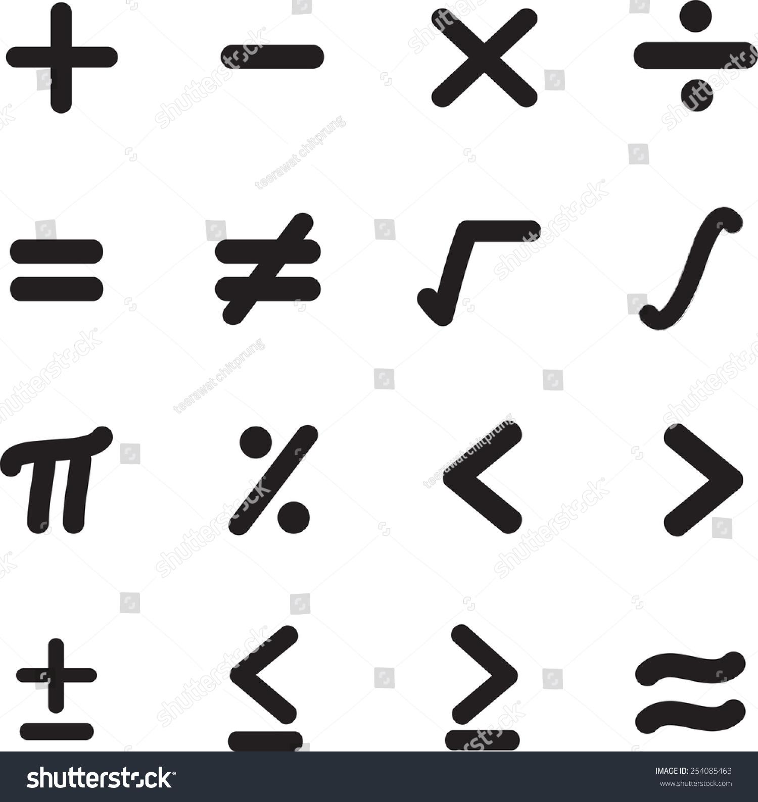 Math symbols set stock vector 254085463 shutterstock math symbols set buycottarizona
