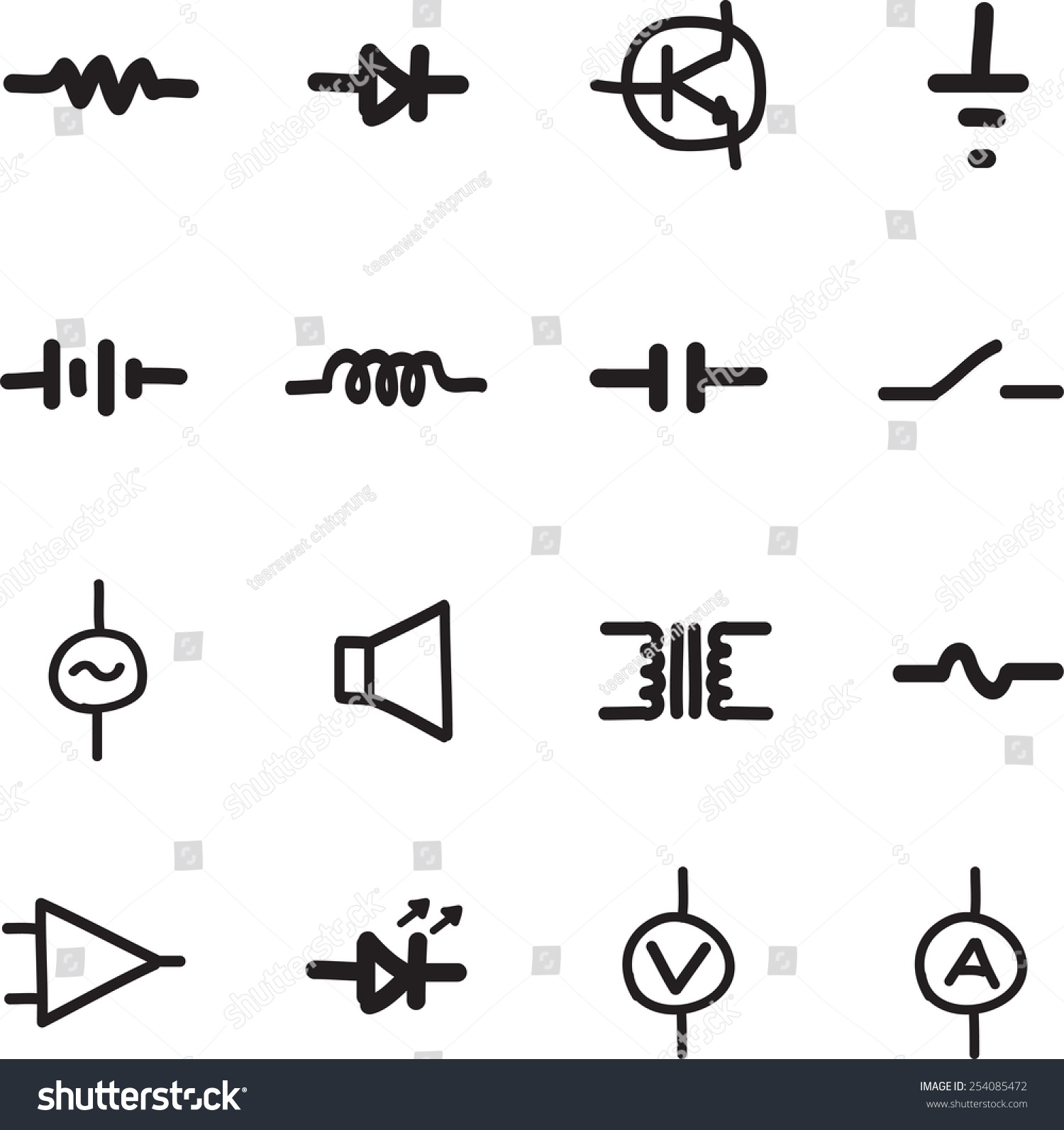 Best electronic components and their symbols ideas electrical electronic parts symbols buycottarizona Choice Image