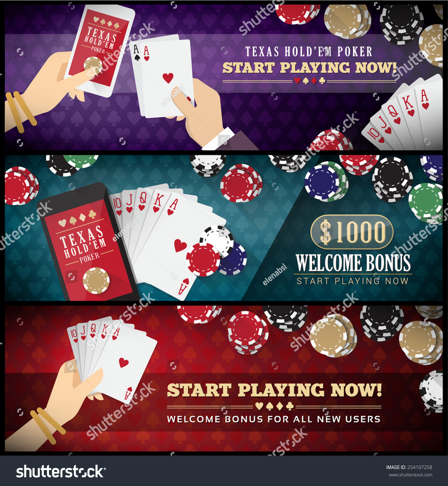 Poker scale of hands