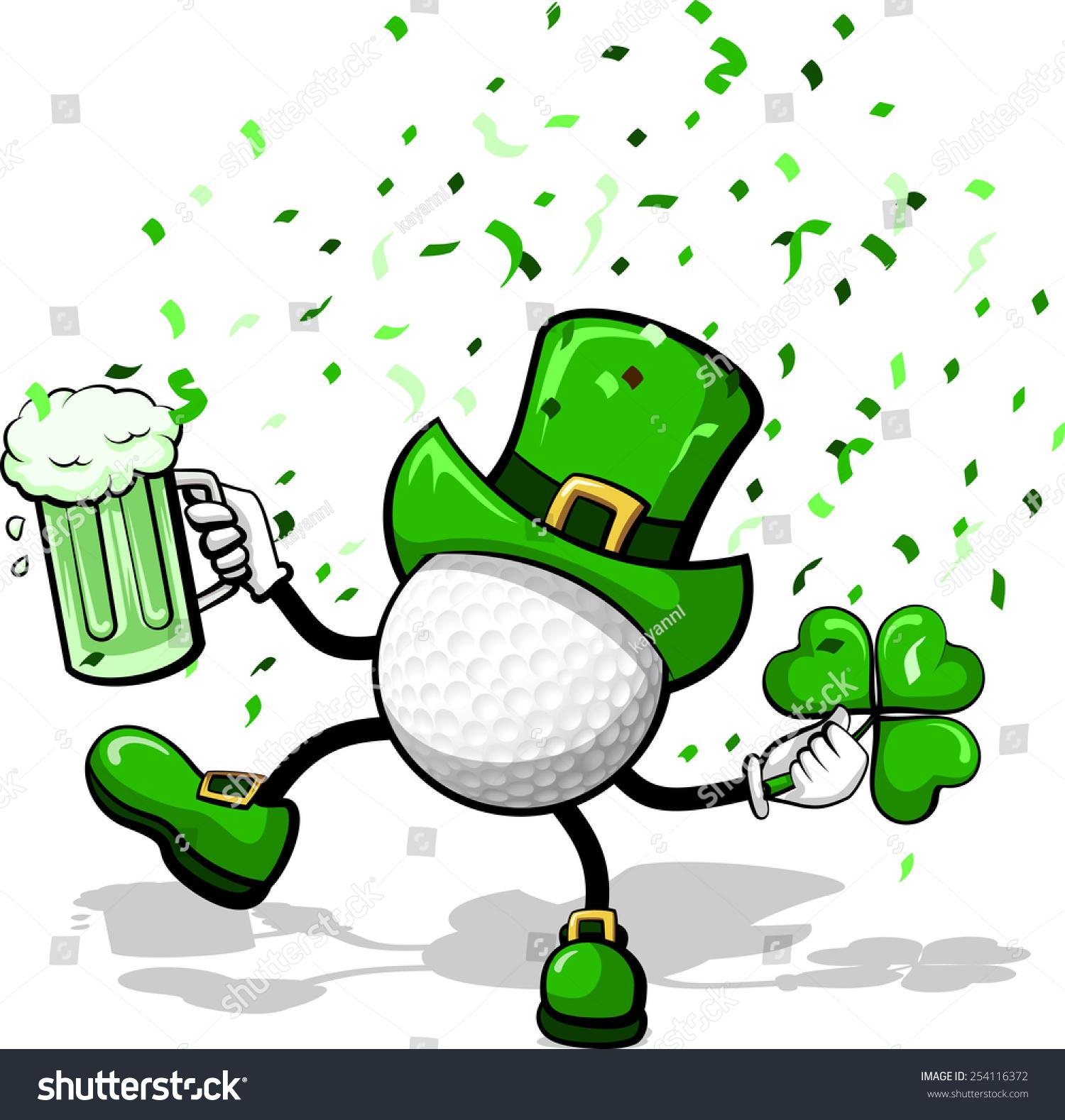 Image result for leprechaun golfing