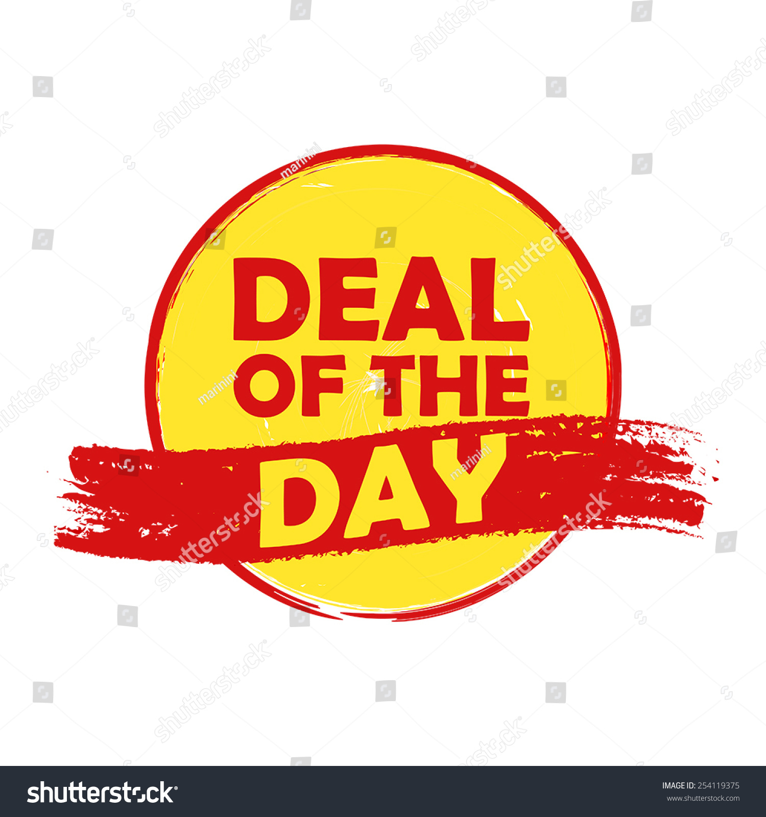 Deal Day Drawn Label Text Red Stock Vector Shutterstock