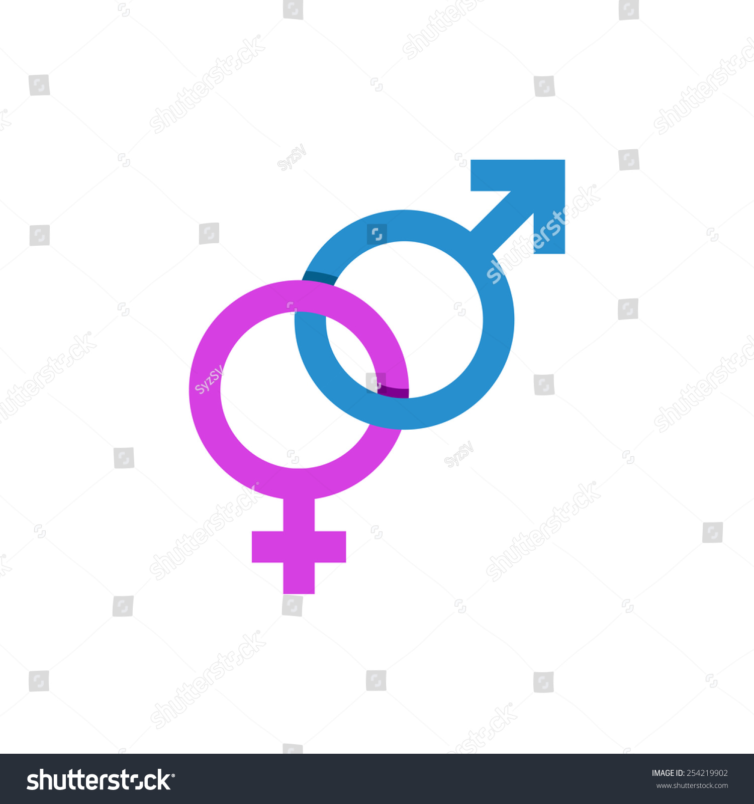 Gender Logo Together Male Female Icon Stock Vector Royalty Free