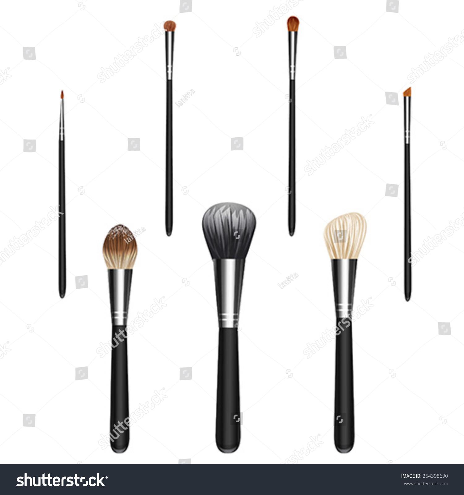 makeup brush vector - photo #26