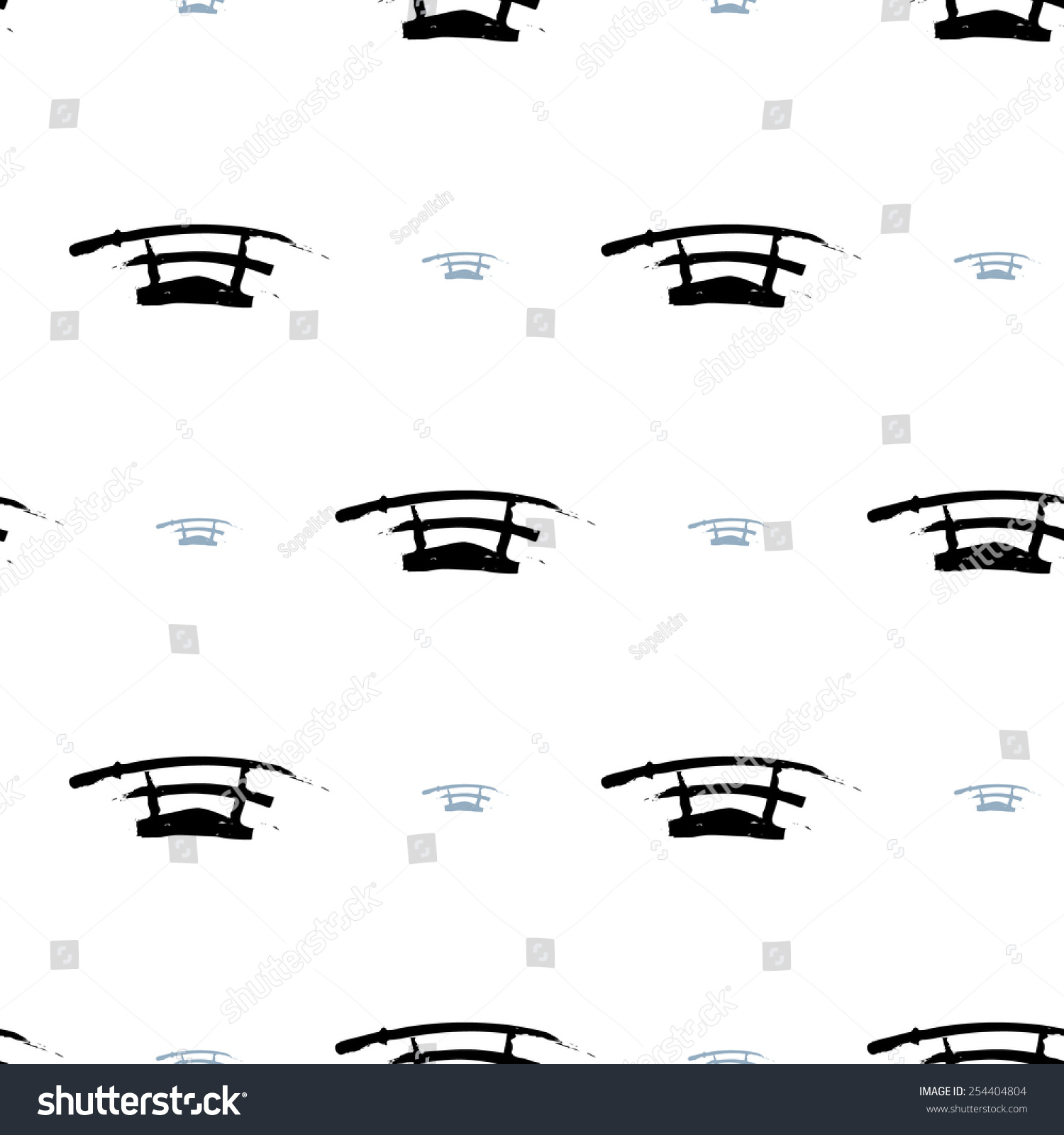 Black white ink hand drawn brushstroke stock vector 254404804 black and white ink hand drawn brushstroke sword set of isolated japanese national symbols and biocorpaavc Image collections