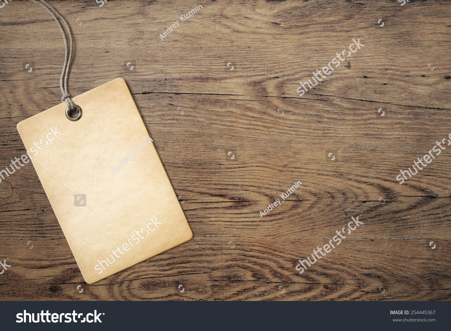 Price tag on old wooden table background stock photo for Tag table html