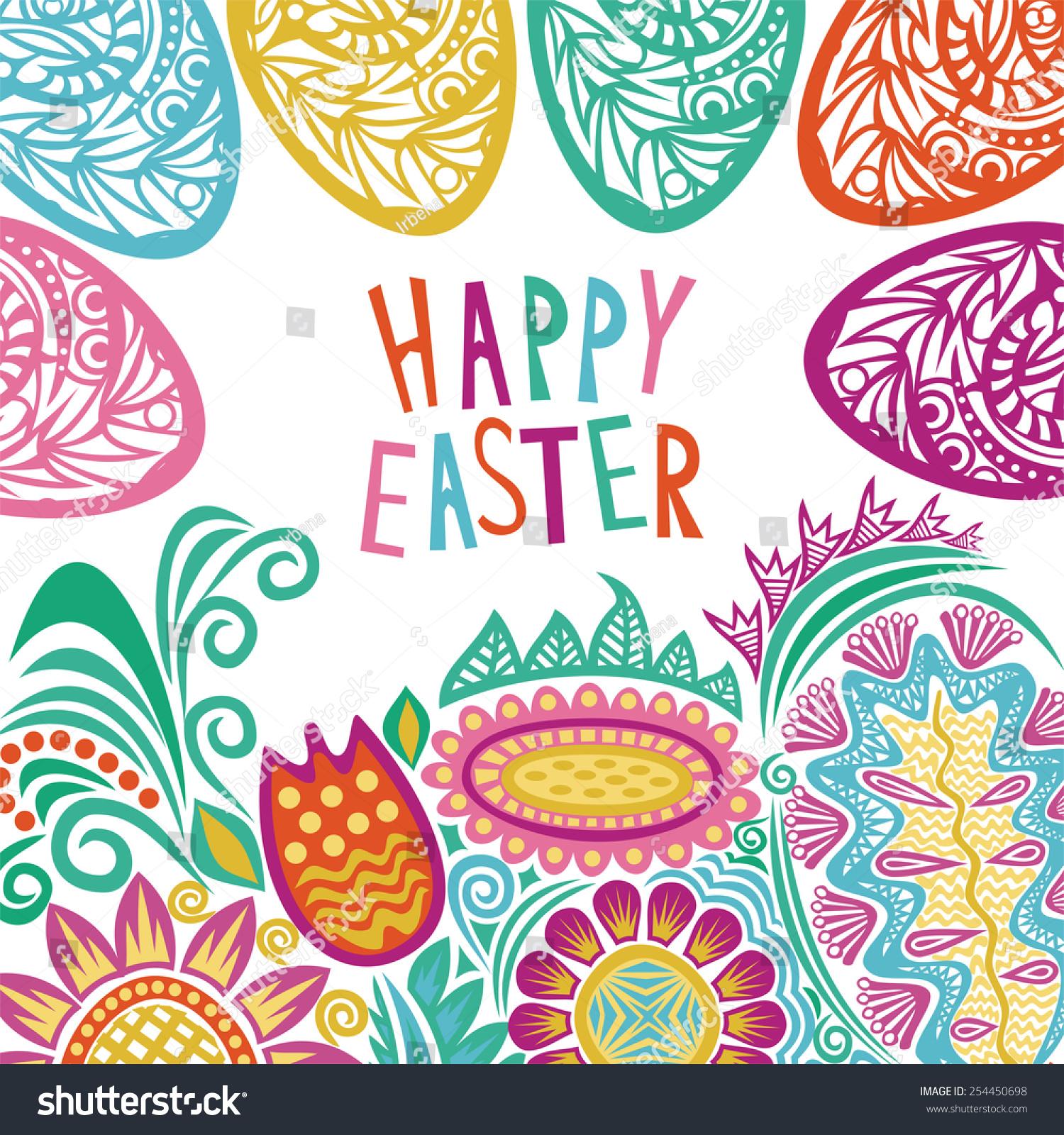 Happy Easter Card Illustration Stock Illustration ...
