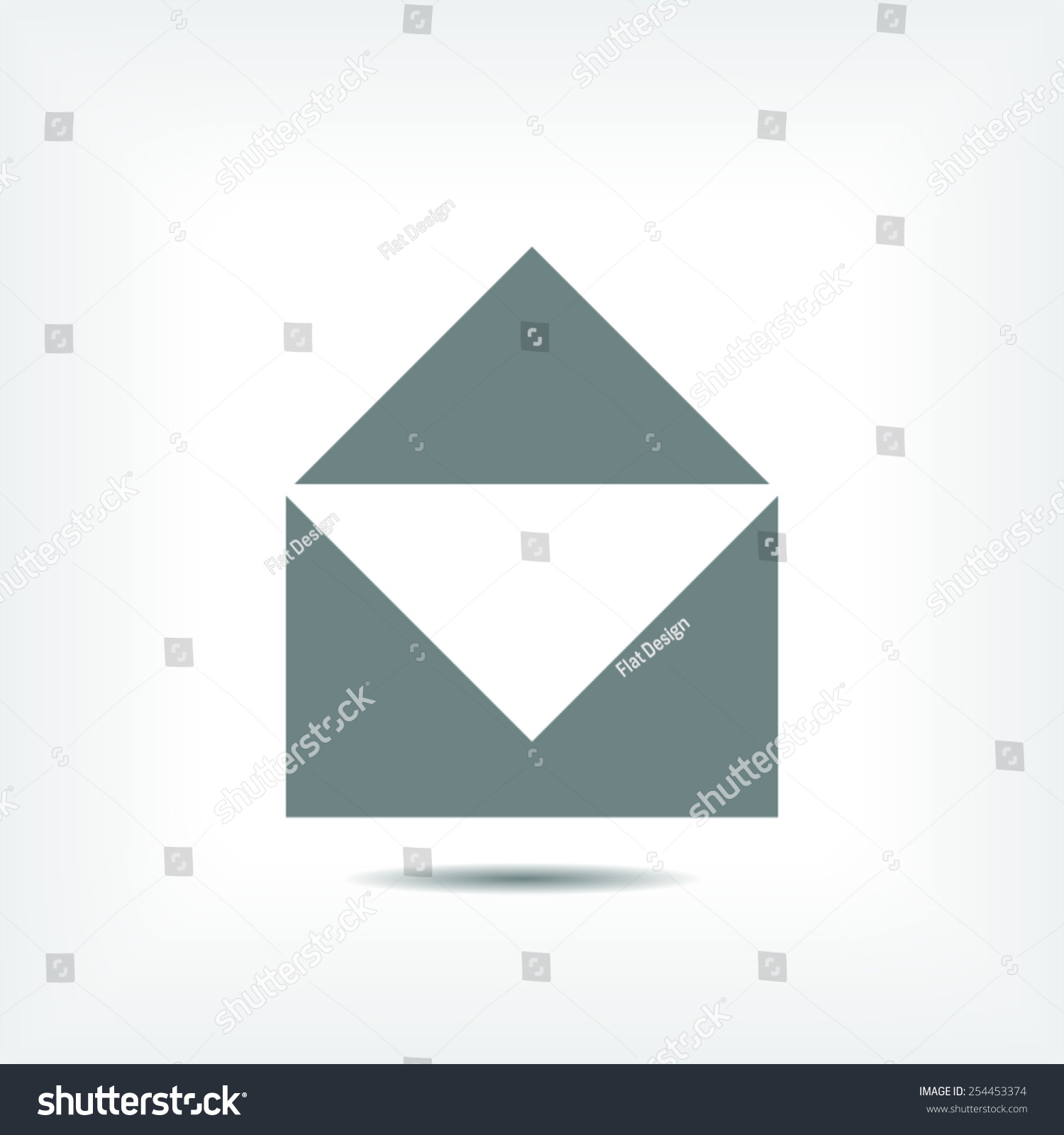 Mail icon vector illustration Flat design style