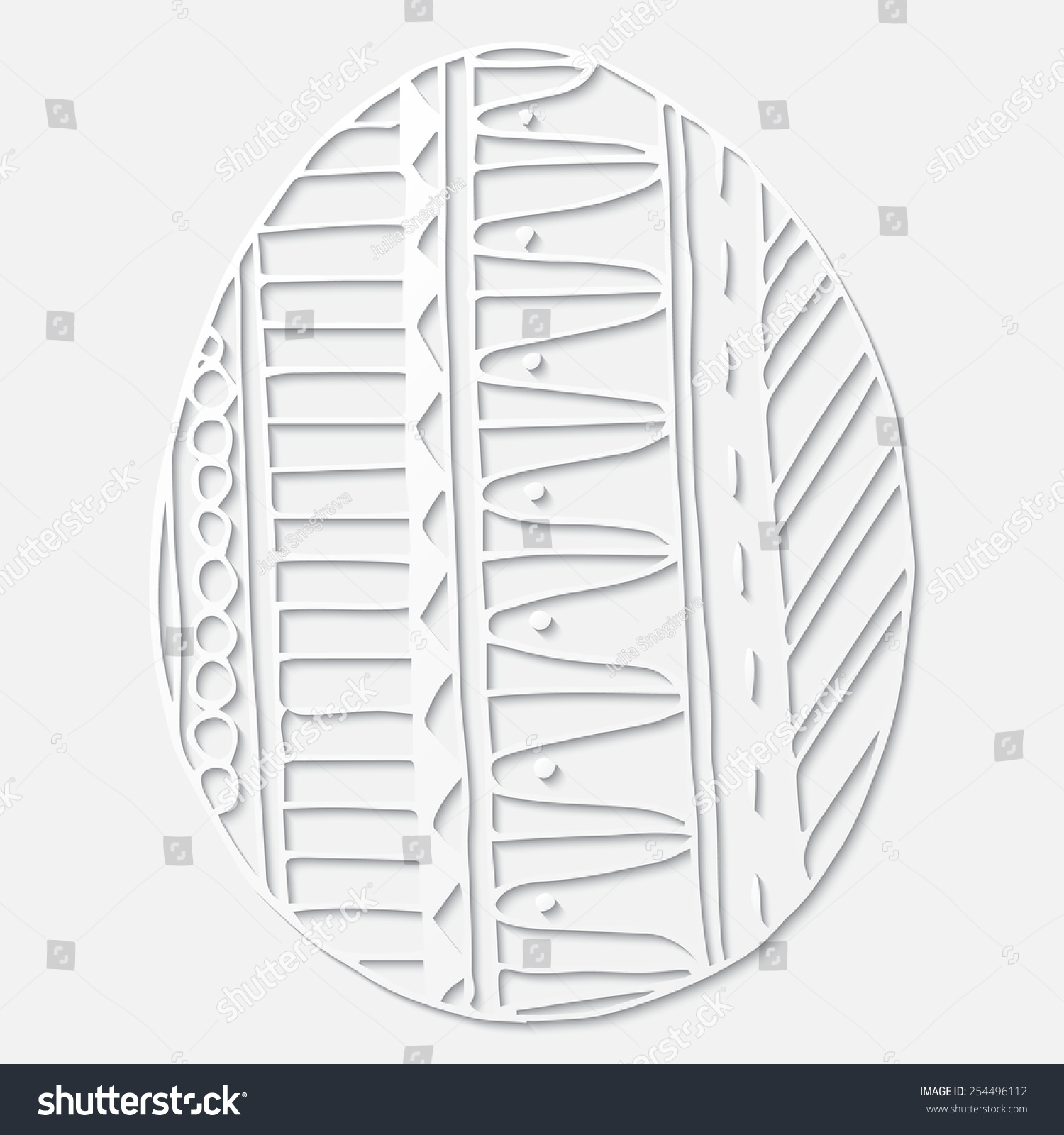eggshape 3 d white paper pattern abstract stock vector royalty free