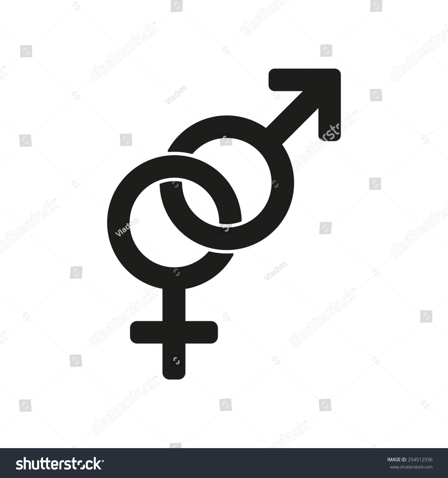 Male Female Icon Women Ang Man Stock Vector Royalty Free 254512936