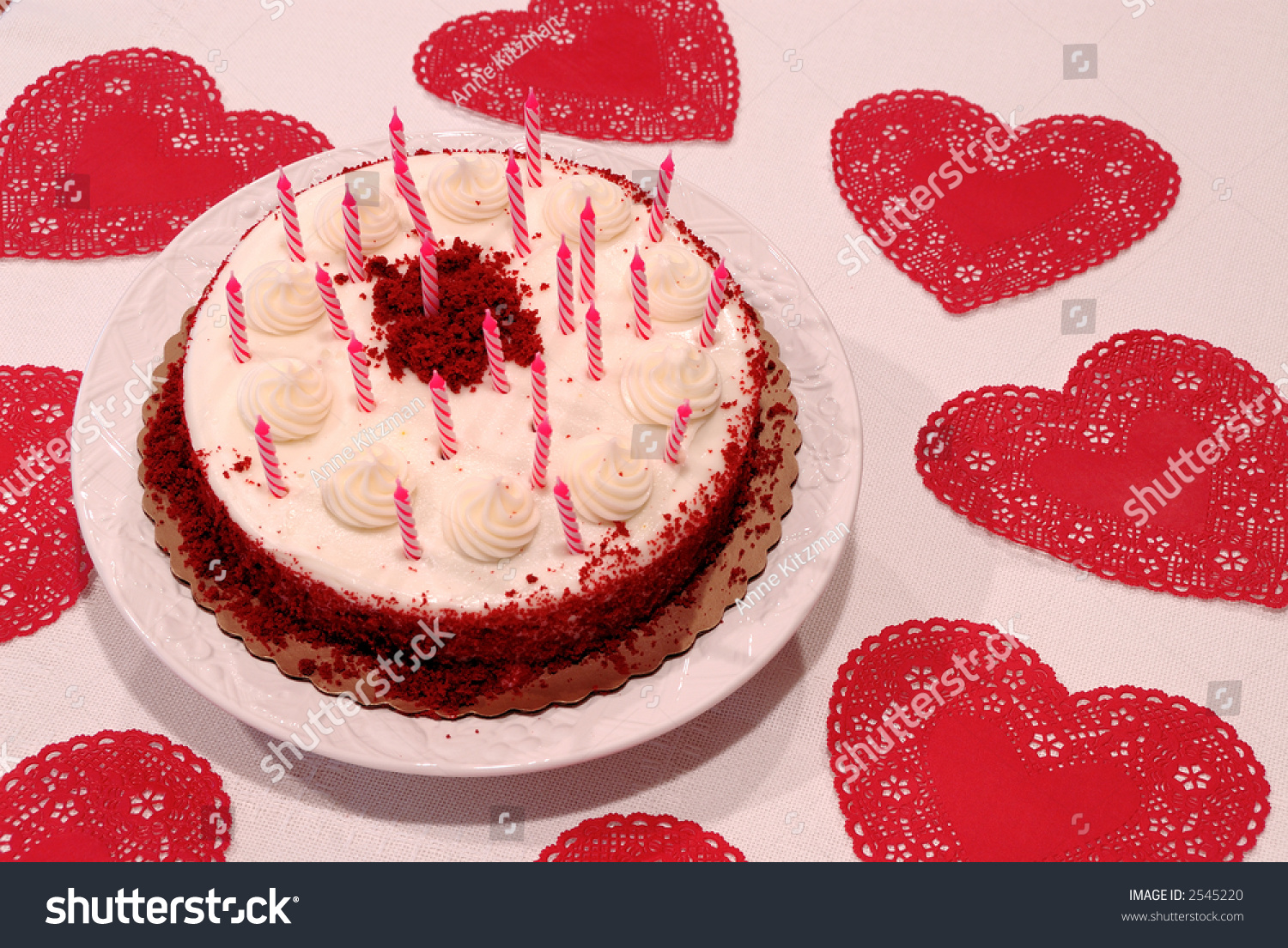 Amazing Valentine Birthday Cake Red Velvet Chocolate Stock Photo Edit Now Funny Birthday Cards Online Fluifree Goldxyz