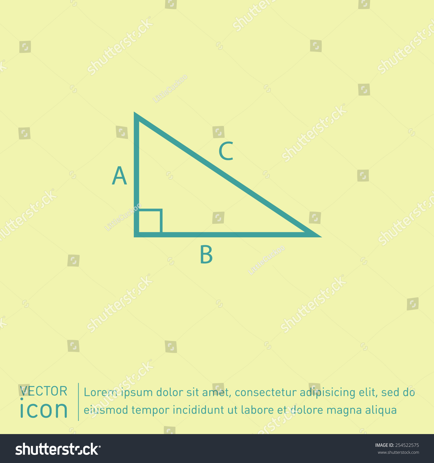 Triangle Math Icon Symbol Icon Geometry Stock Vector Royalty Free