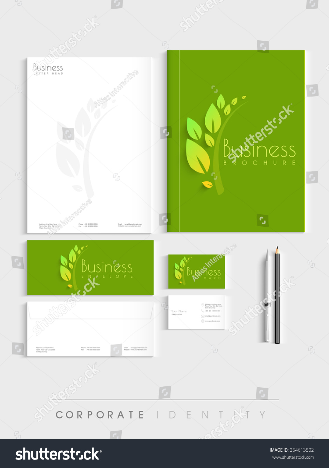 Corporate Identity Kit Nature Concept Includes Stock Vector HD ...